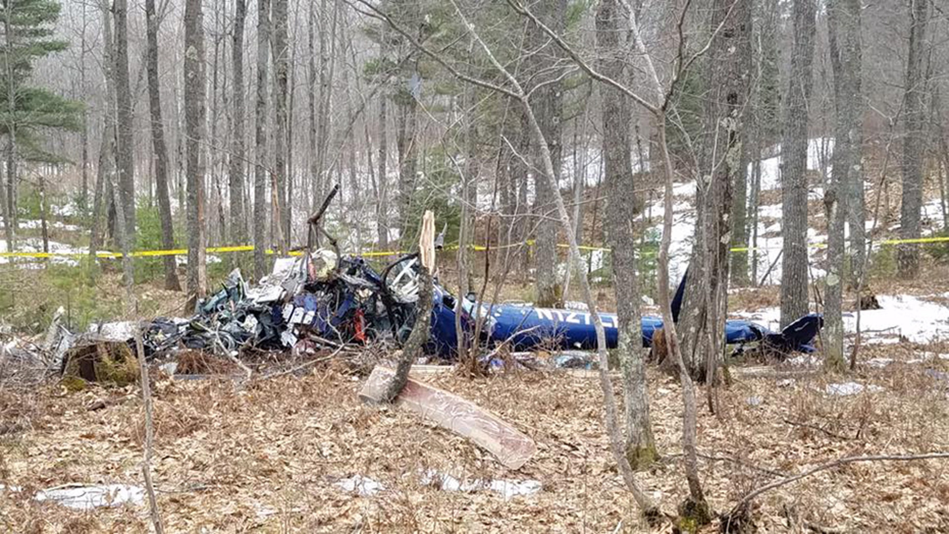 A medical helicopter crashed in a heavily wooded area in northern Wisconsin, killing all three people on board.