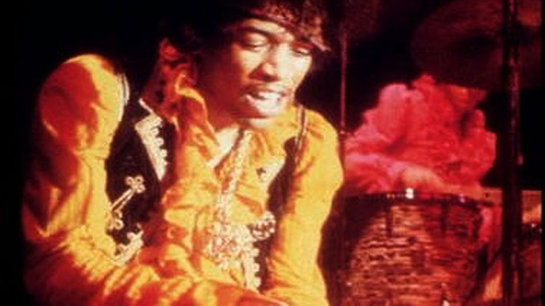 Jimi Hendrix in 1966 (AP)
