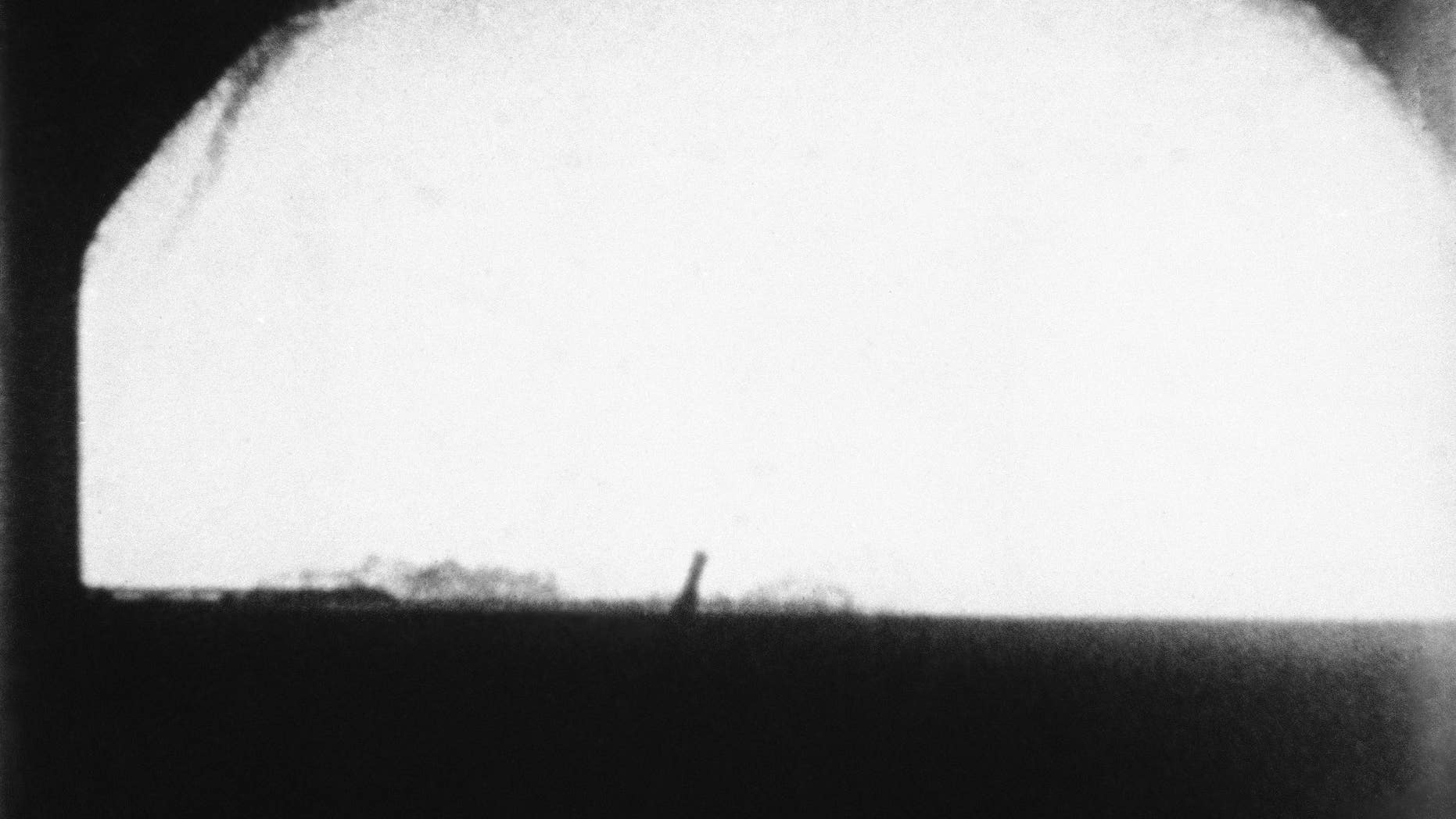 "This  May 21, 1956, file photo shows the H-Bomb ""Cherokee"" over Bikini Atoll, Marshall Islands."