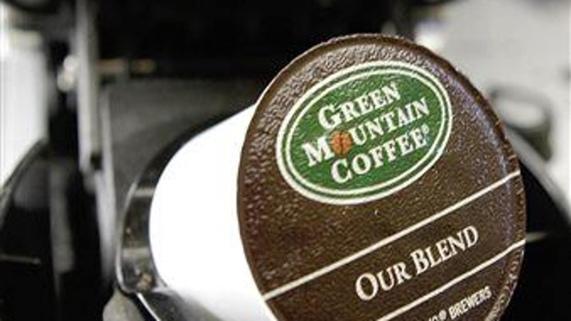 A Green Mountain Coffee single-serving brewing cup.