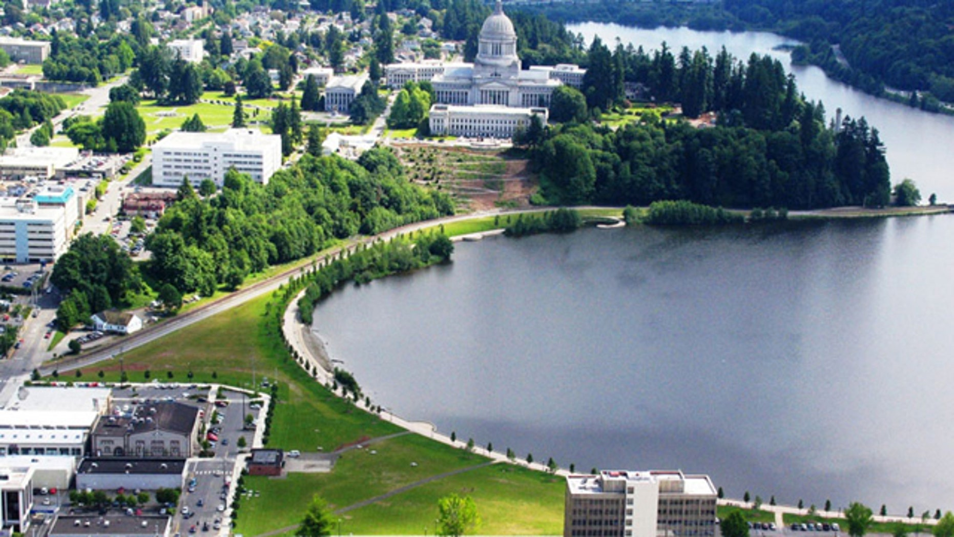 Heritage Park is a 24-acre state-owned park adjacent to the State Capitol Campus, Capitol Lake and downtown Olympia.