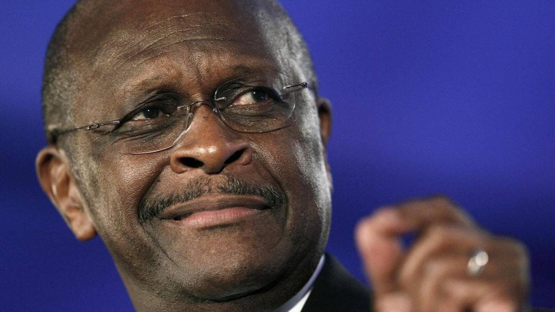 Republican presidential candidate Herman Cain (AP File Photo/Patrick Semansky, File)