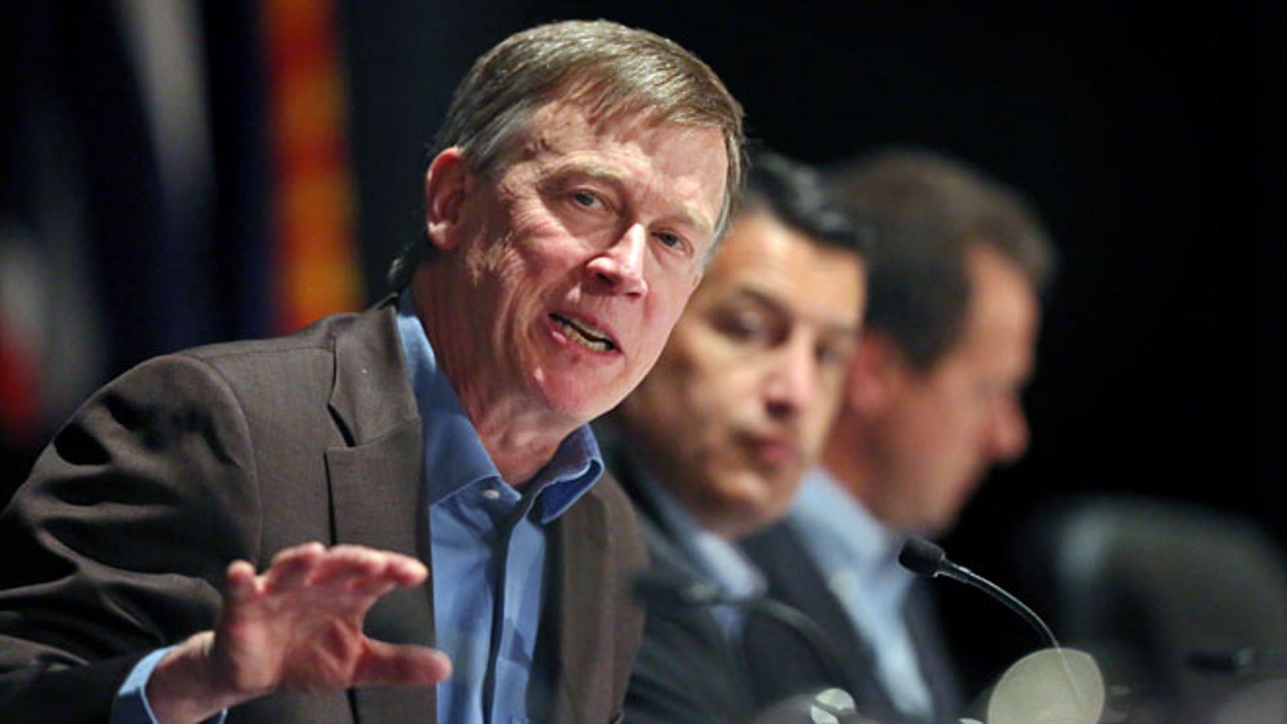 Colo. Governor John Hickenlooper at the Broadmoor Hotel in Colorado Springs, Tuesday, June 10, 2014.