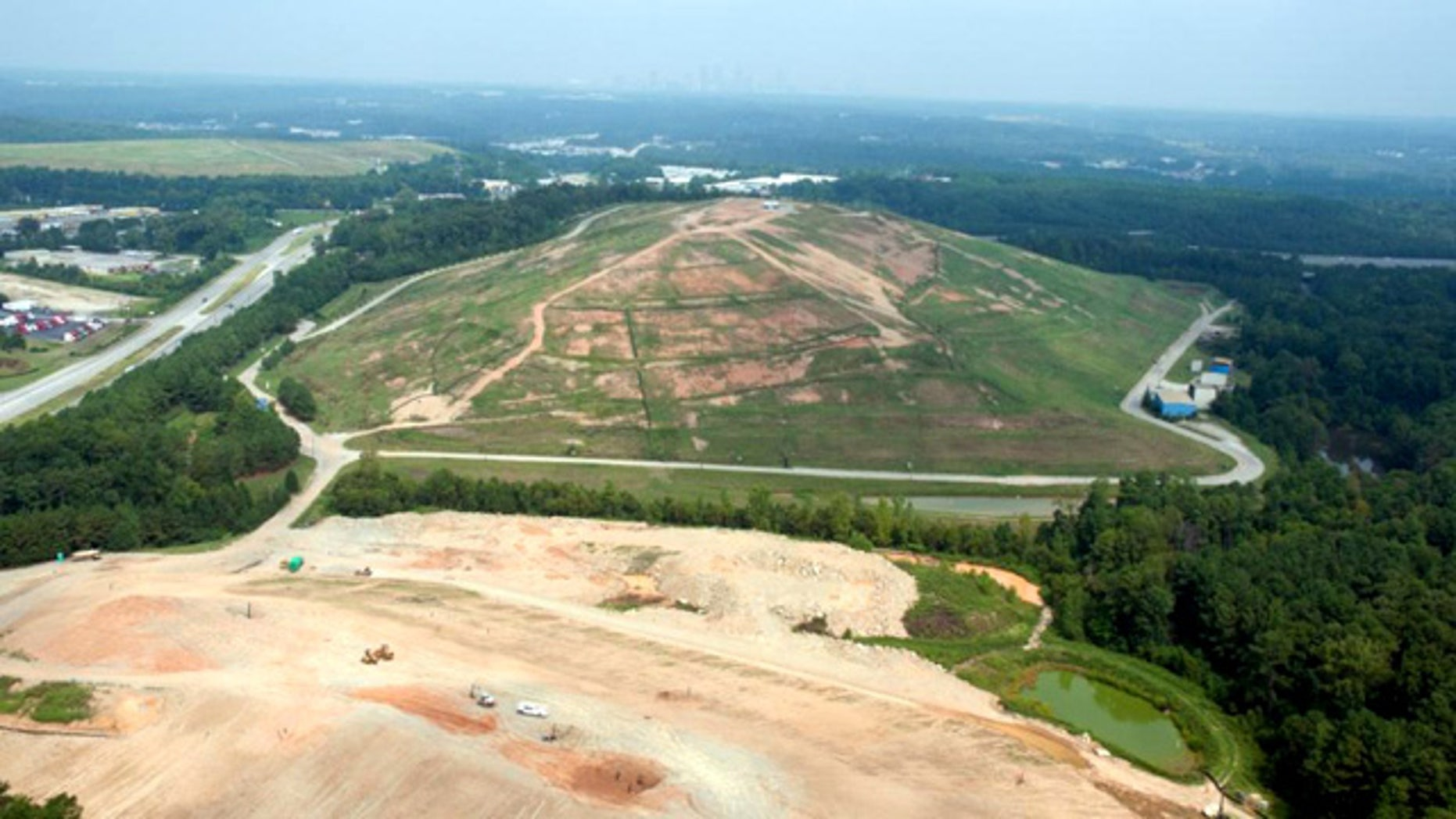 A landfill in Georgia is being converted into a solar-energy generating farm.
