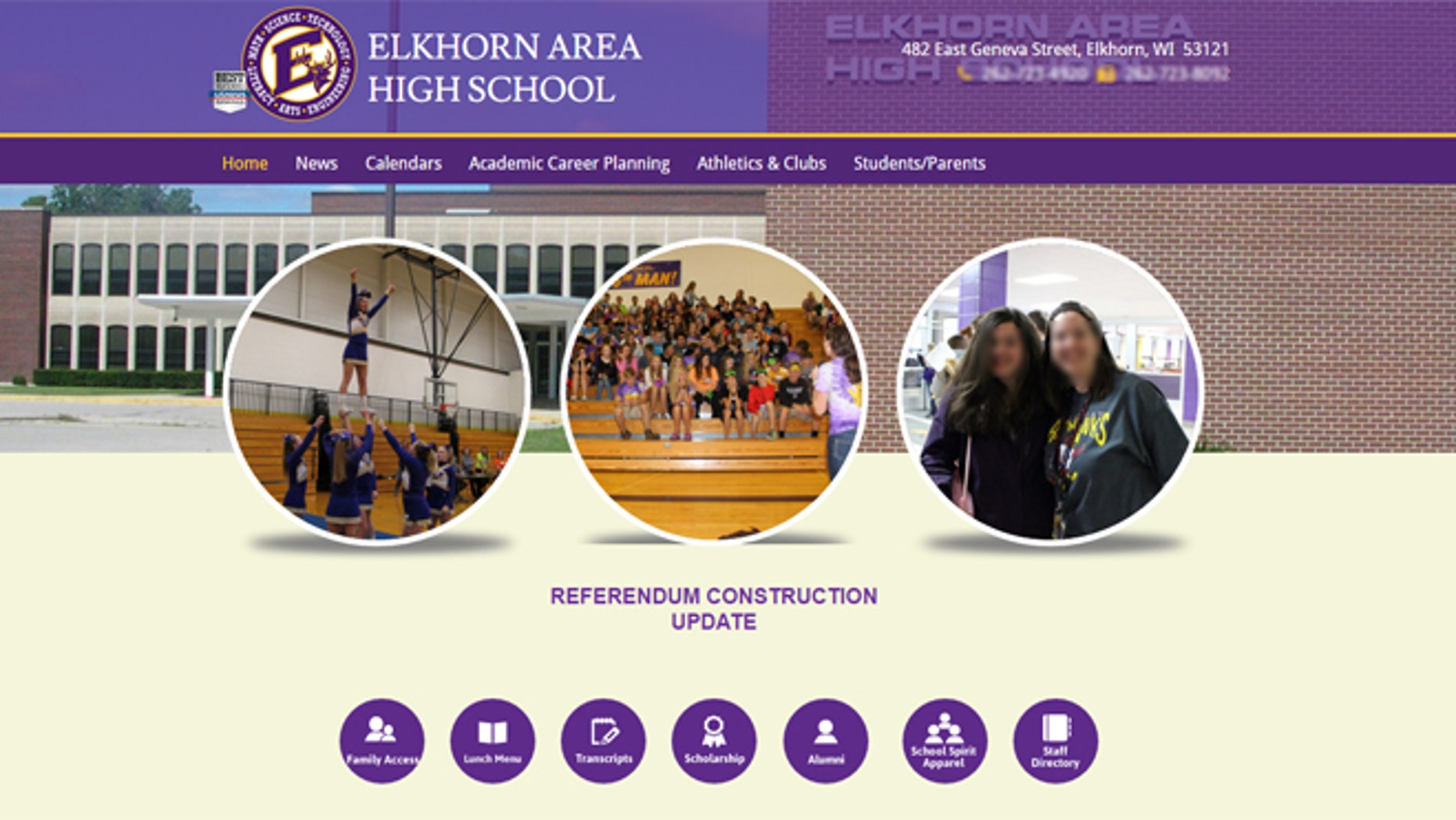 Elkhorn Area High School, where fans chanted racist comments at minority players.