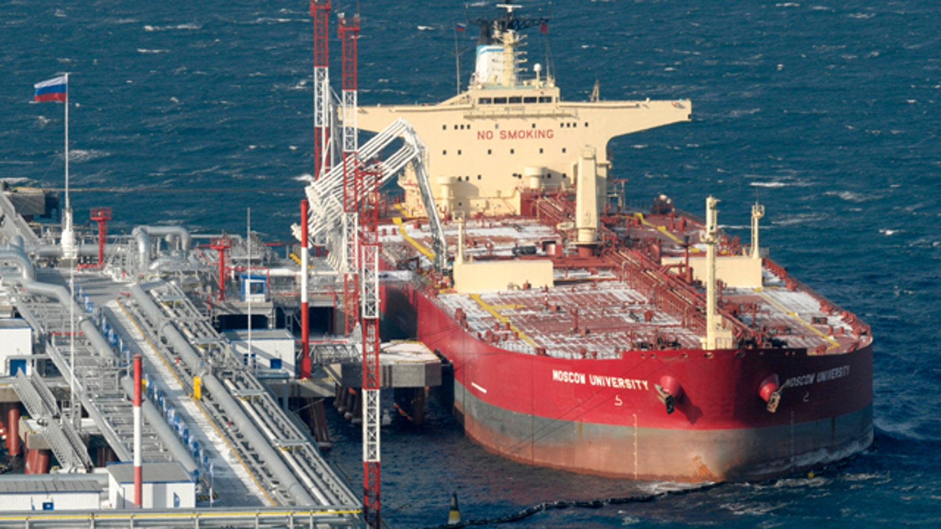 The Russian oil tanker known as Moscow University, seen in this 2009 file photo, was freed from pirates Thursday by Russian forces.