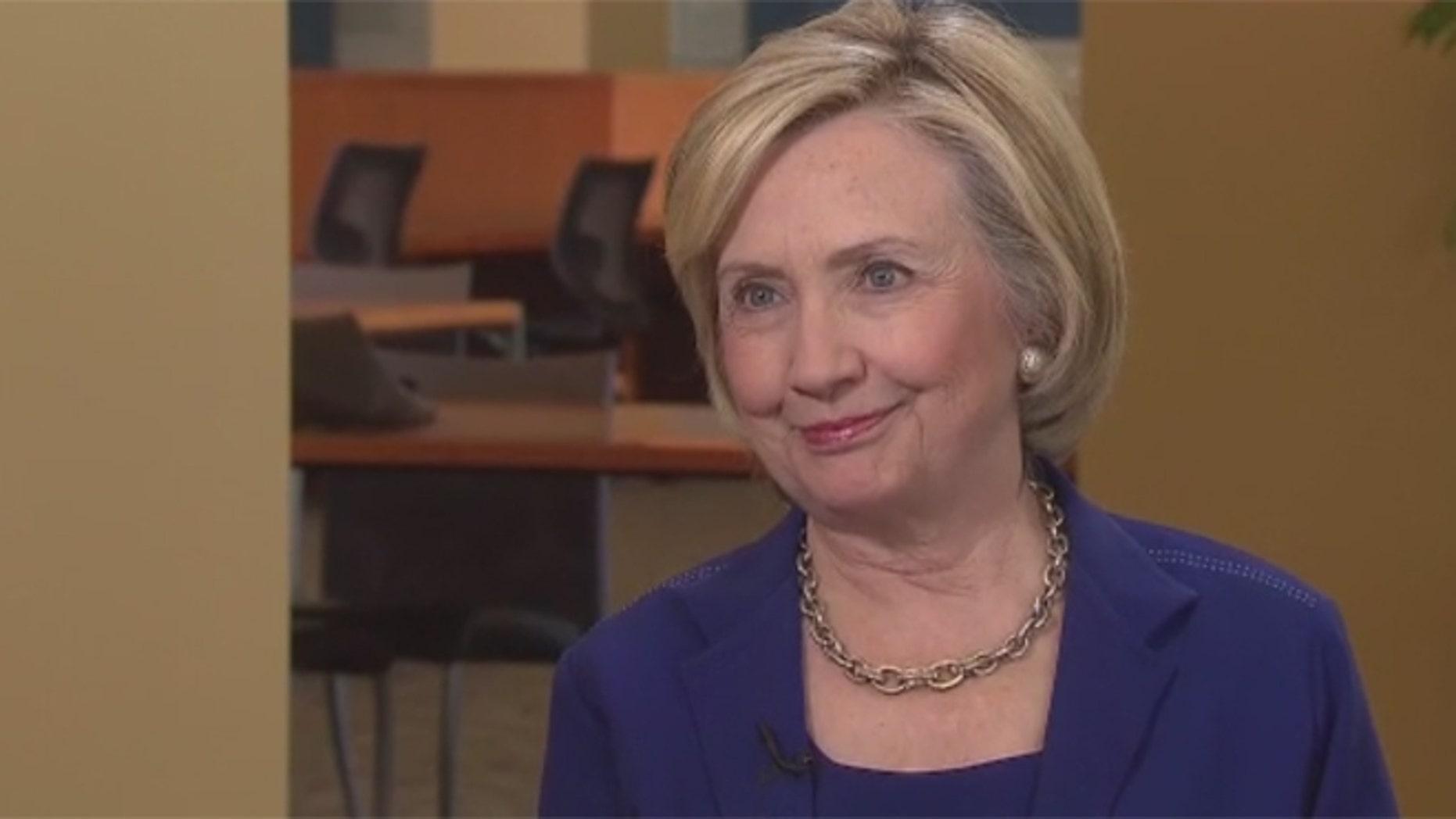 Hillary Clinton being interviewed on CNN, July 7, 2015. (Source: Screen shot via CNN.com)