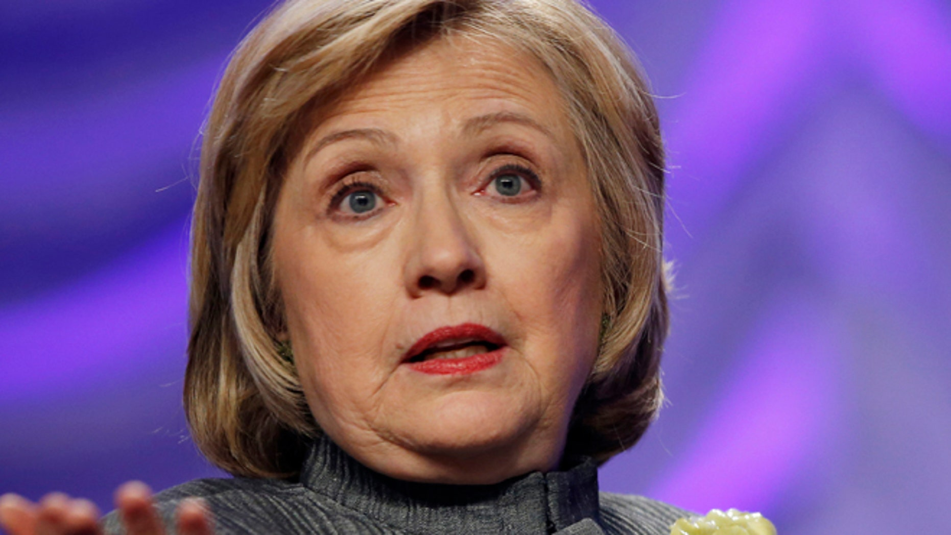 May 6, 2014: This file photo shows Former Secretary of State Hillary Rodham Clinton speaking in National Harbor, Md. (AP)