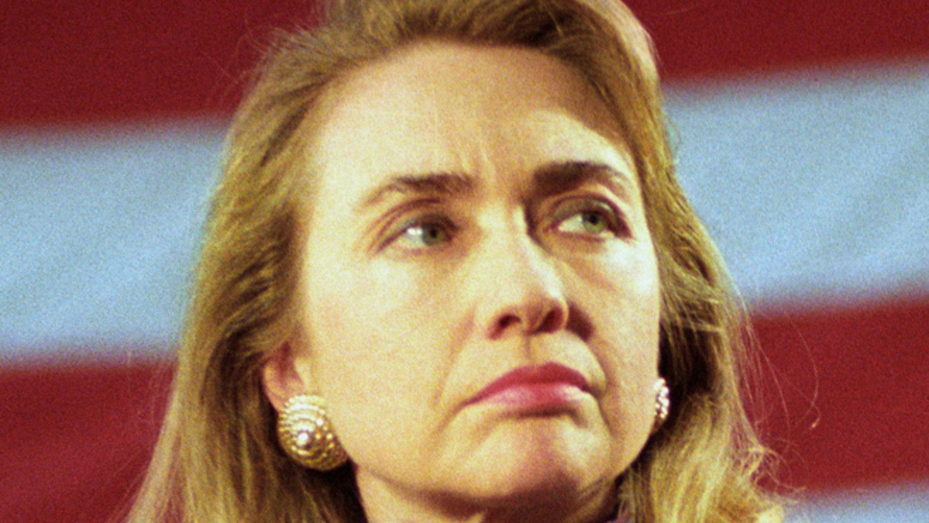 Hillary Clinton on March 16, 1992 in Wayne, MI.