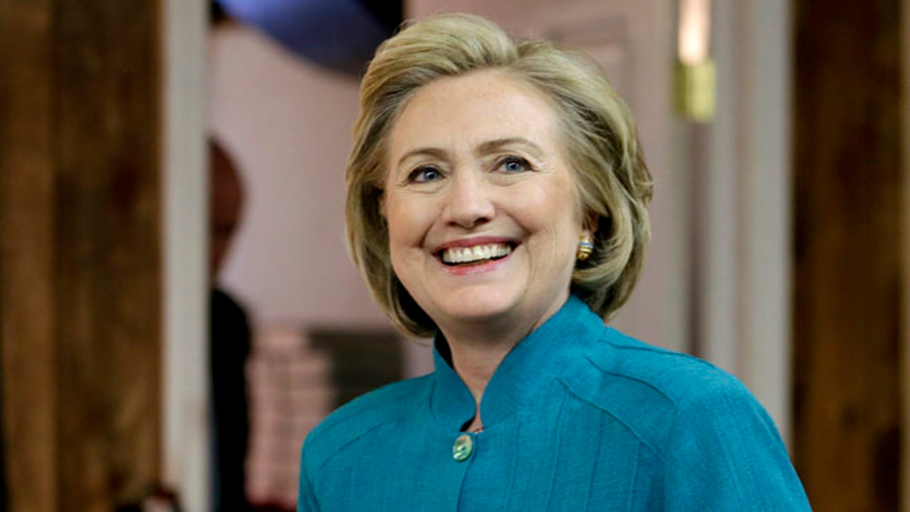 Hillary Rodham Clinton arriving at a book signing, Thursday, July 17, 2014, in Ridgewood, N.J.