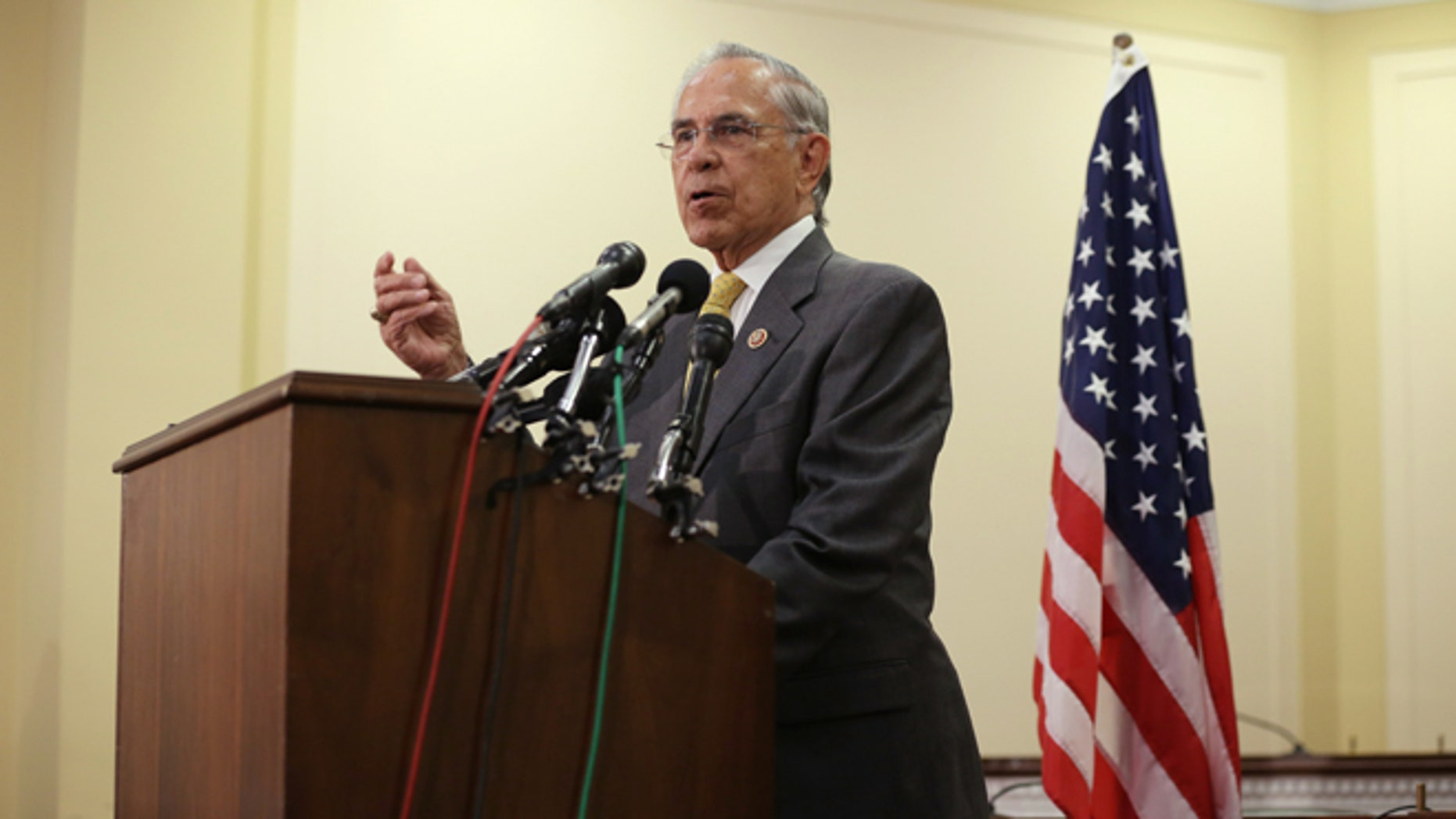 U.S. Rep. Rubén Hinojosa during a news conference July 11, 2014 on Capitol Hill.