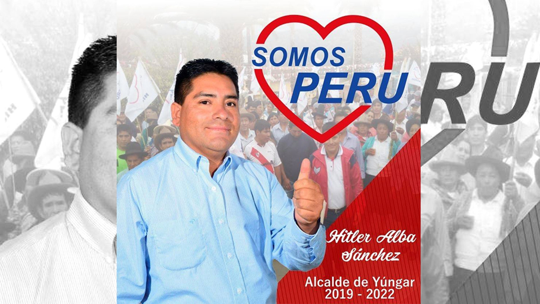 """Hitler Alba, who is running for mayor of a small town in Peru, said, """"I'm the good Hitler."""""""