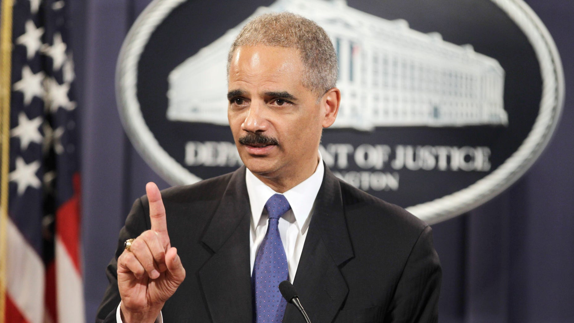 Nov. 29: Attorney General Eric Holder answers a question about WikiLeaks during a news conference at the Justice Department in Washington, D.C.