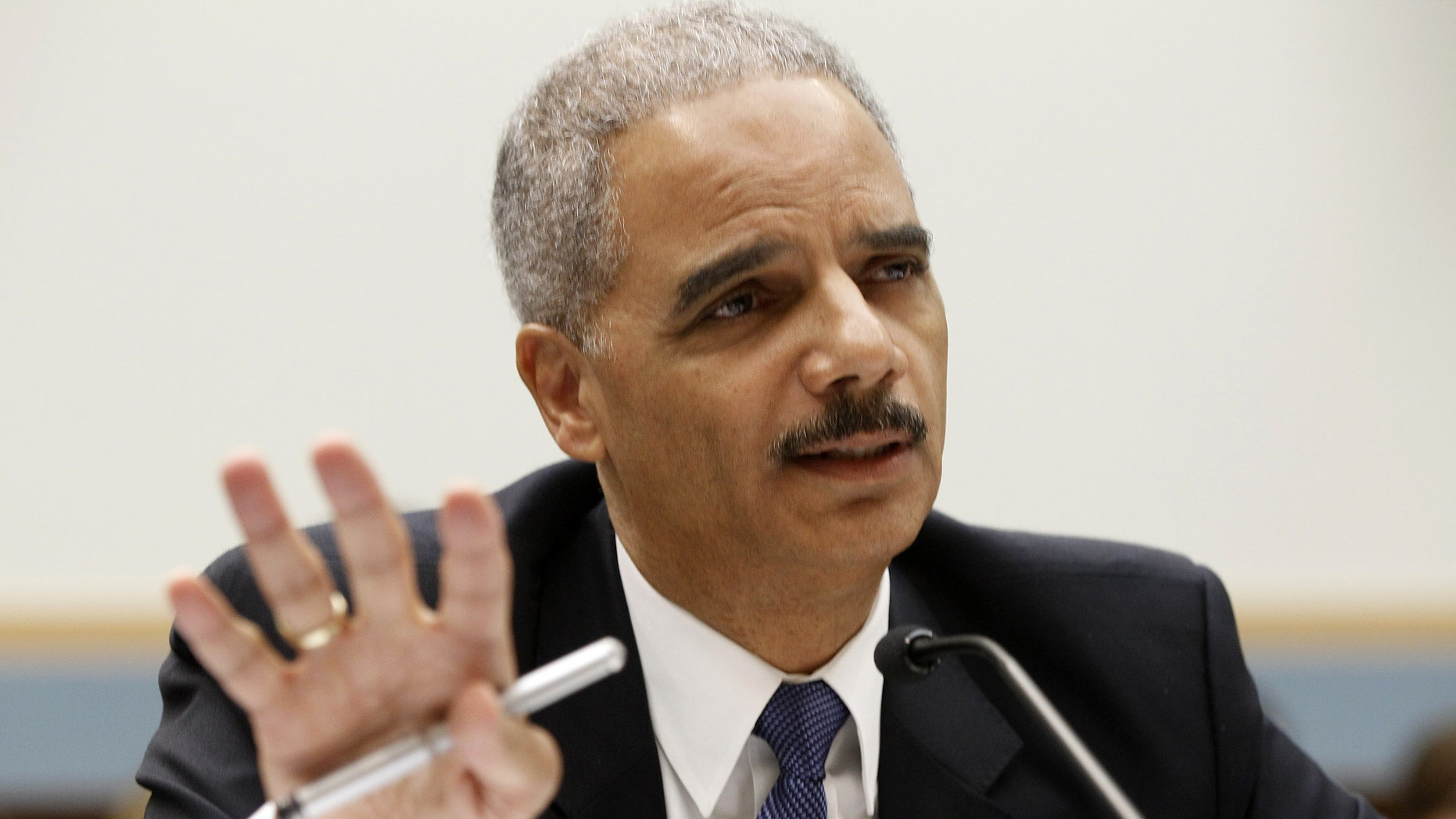 June 2012: Attorney General Eric Holder testifies on Capitol Hill in Washington, before the House Judiciary Committee oversight hearing on the Justice Department.