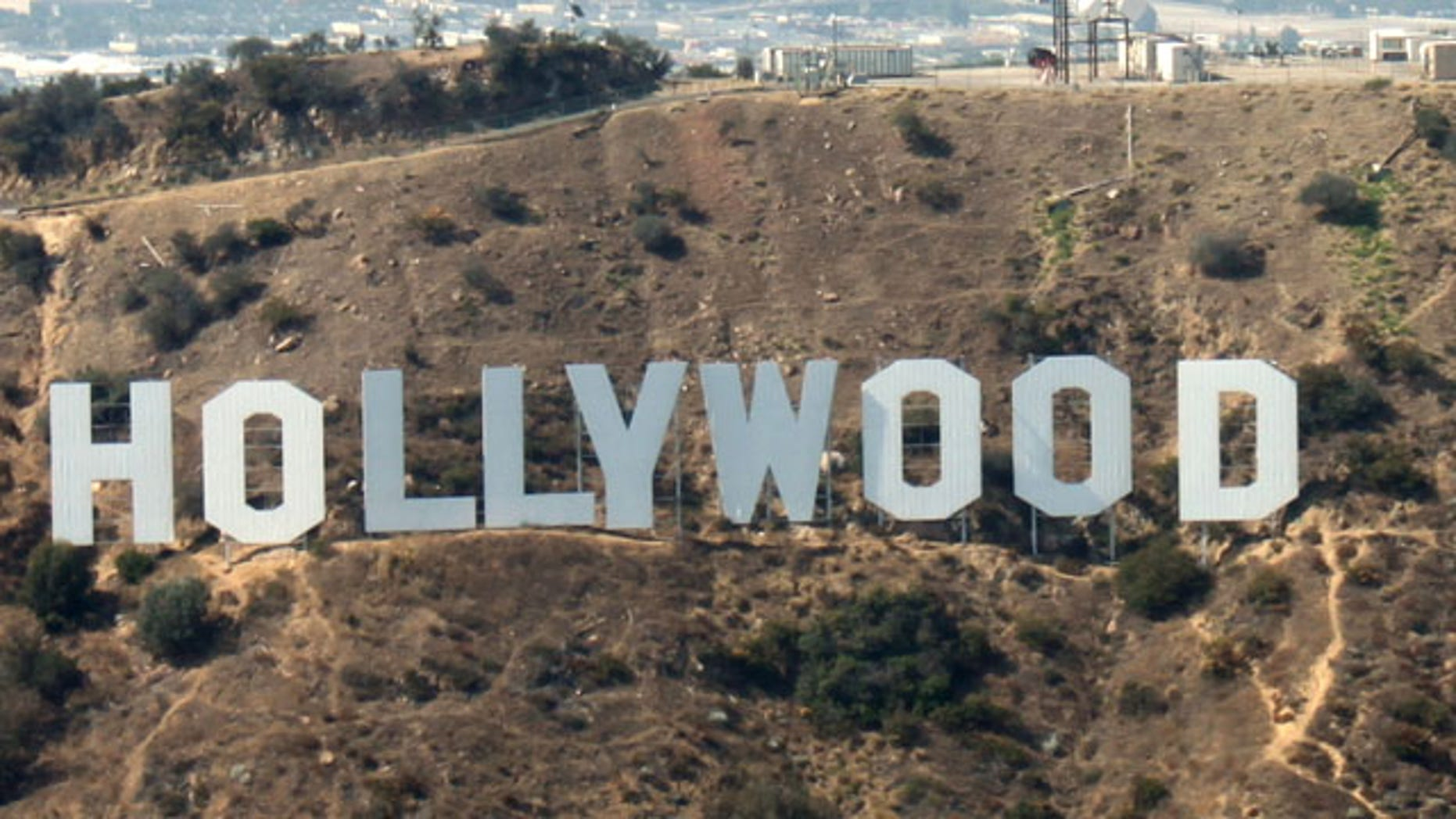 The Hollywood Sign as it appears today.