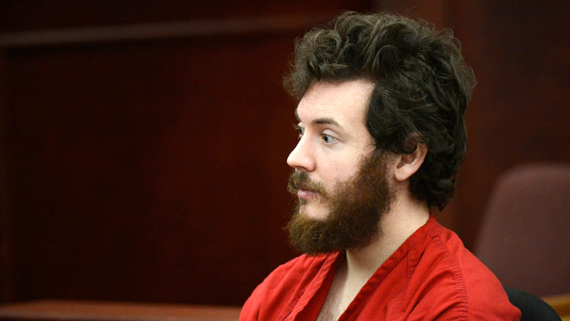 March 12, 2013: This file photo shows James Holmes, Aurora theater shooting suspect, in the courtroom during his arraignment in Centennial, Colo.