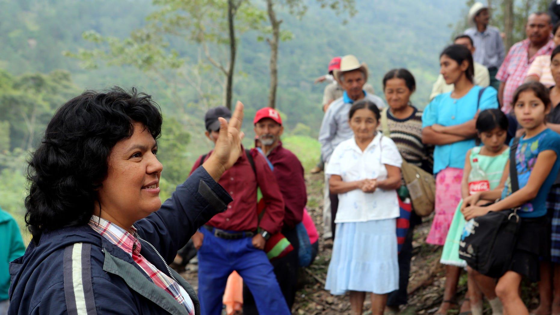 Berta Caceres in the Intibuca department of Honduras on Jan. 27, 2015.