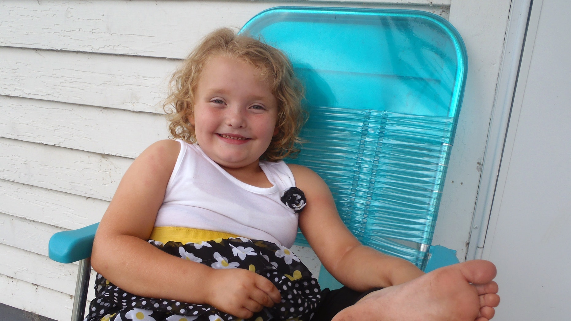 This undated publicity photo released by TLC shows Alana, better known as Honey Boo Boo, in McIntyre, Ga.