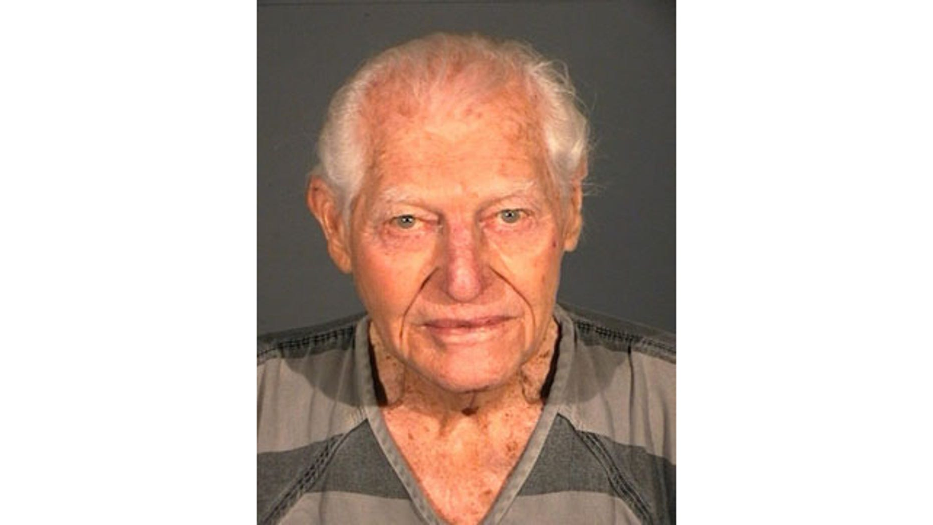 January 19, 2014: This photo provided by the Carson City Sheriff 's Department shows William Dresser, who was arrested Sunday after firing one shot with small-caliber semi-automatic handgun that struck his wife in the chest at Carson Tahoe Regional Medical Center in Carson City. (AP Photo/Carson City Sheriff Department)