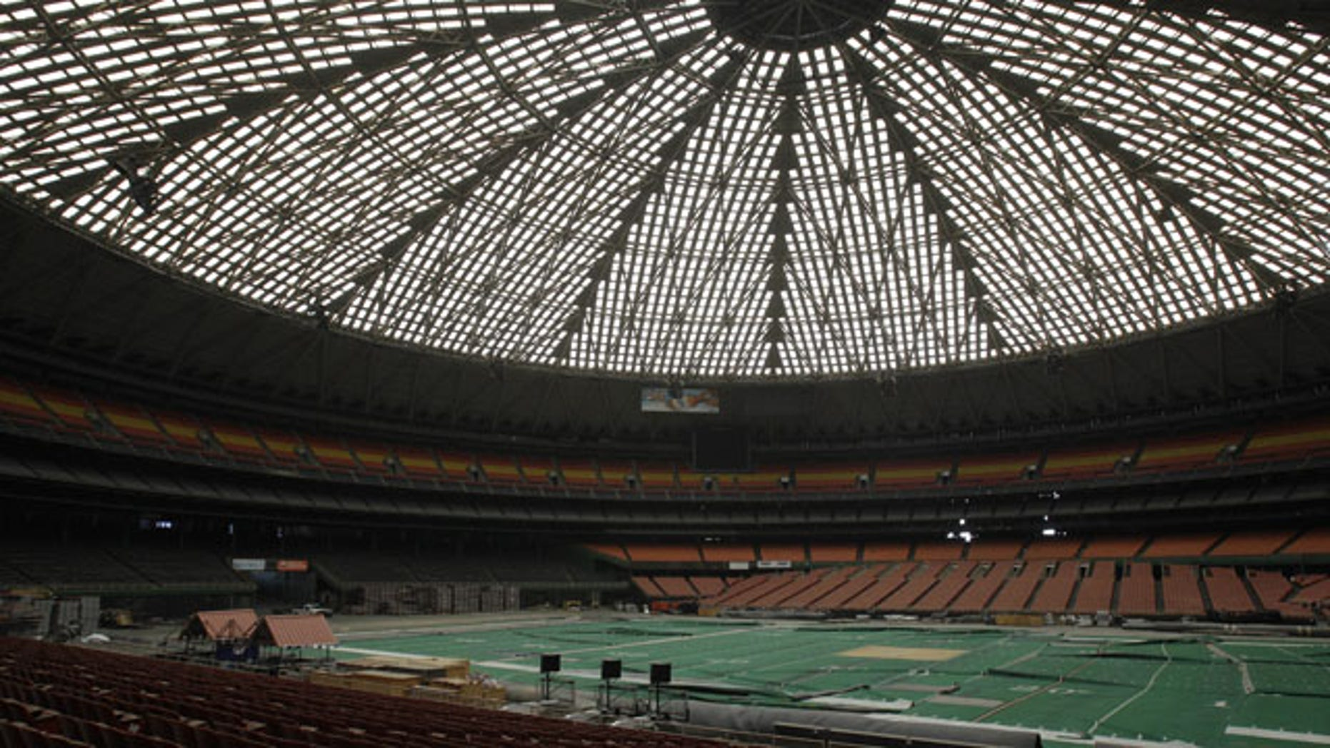 FILE- In this May 21, 2012 file photo, the Astrodome sits gathering dust and items for storage in Houston. (AP Photo)