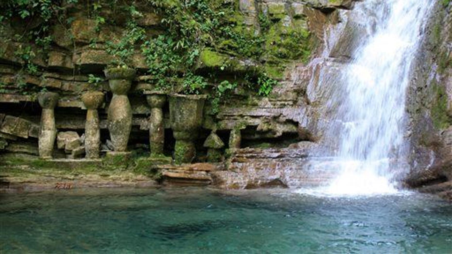 Listen to the sounds of a waterfall like this one in a jungle in northeast Mexico.