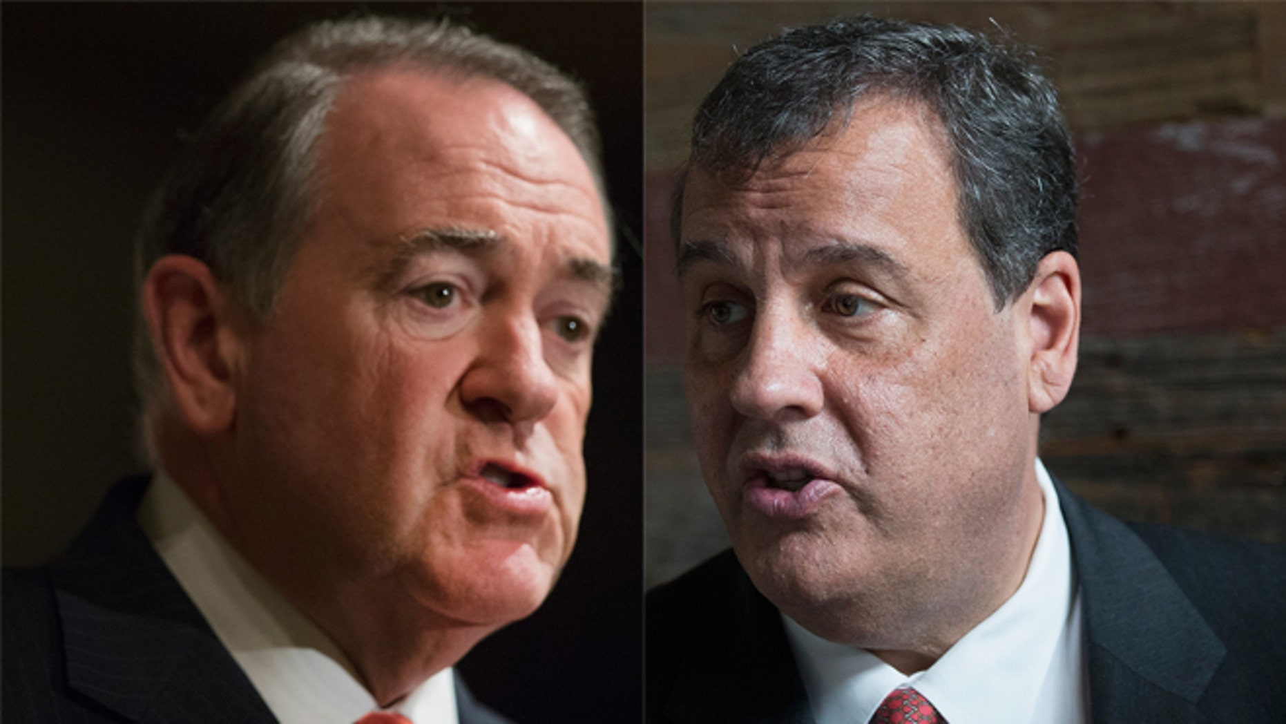Mike Huckabee (left) and New Jersey Gov. Chris Christie. (Photos: Getty Images)