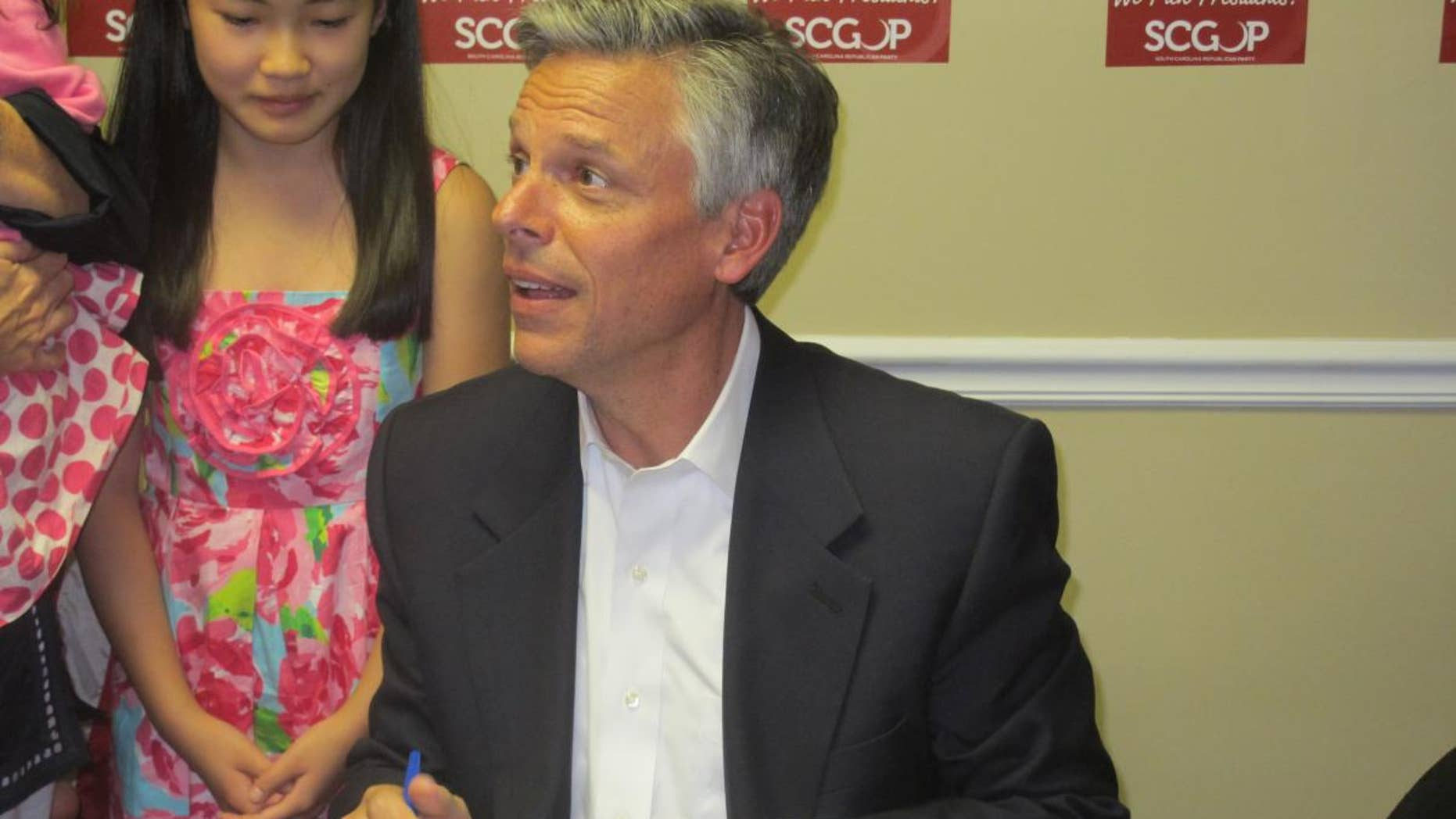 Former Utah Governor Jon Huntsman entered the South Carolina Primary Wednesday  (Fox News Photo)