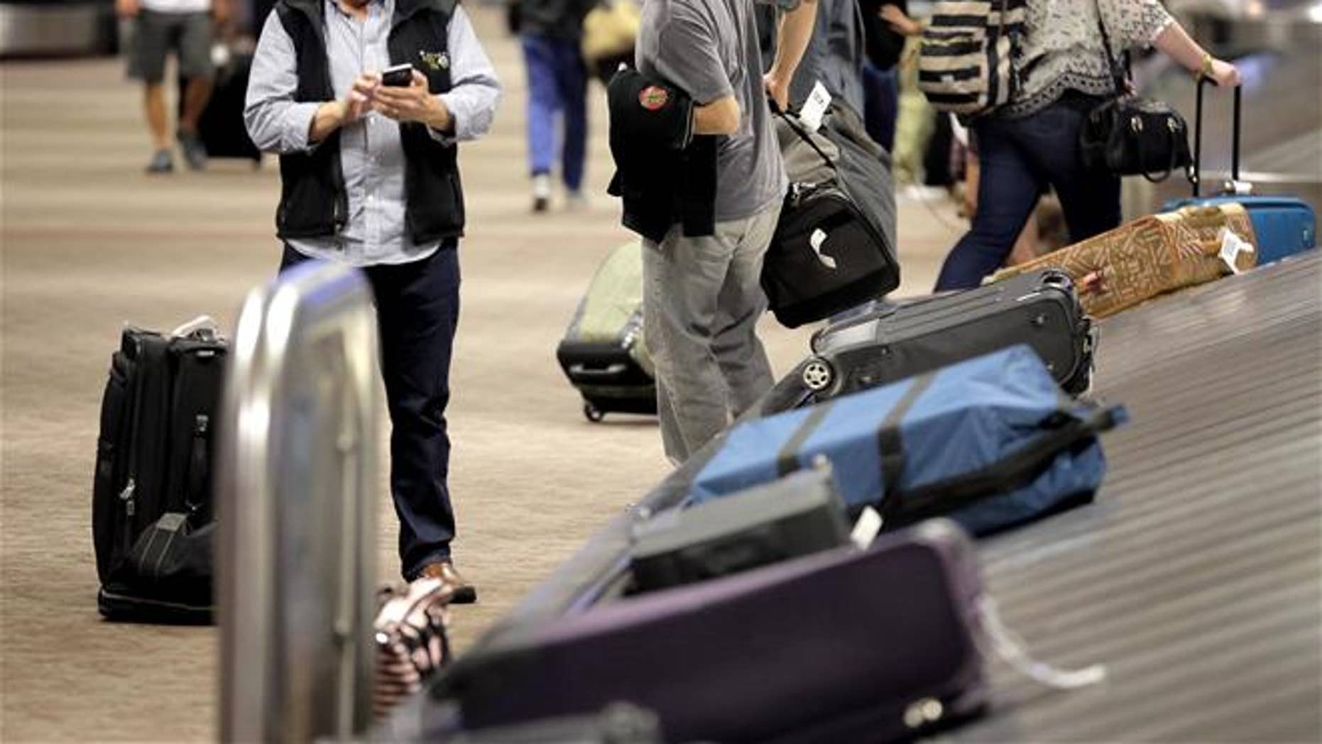 Checked luggage is shown in this file photo.