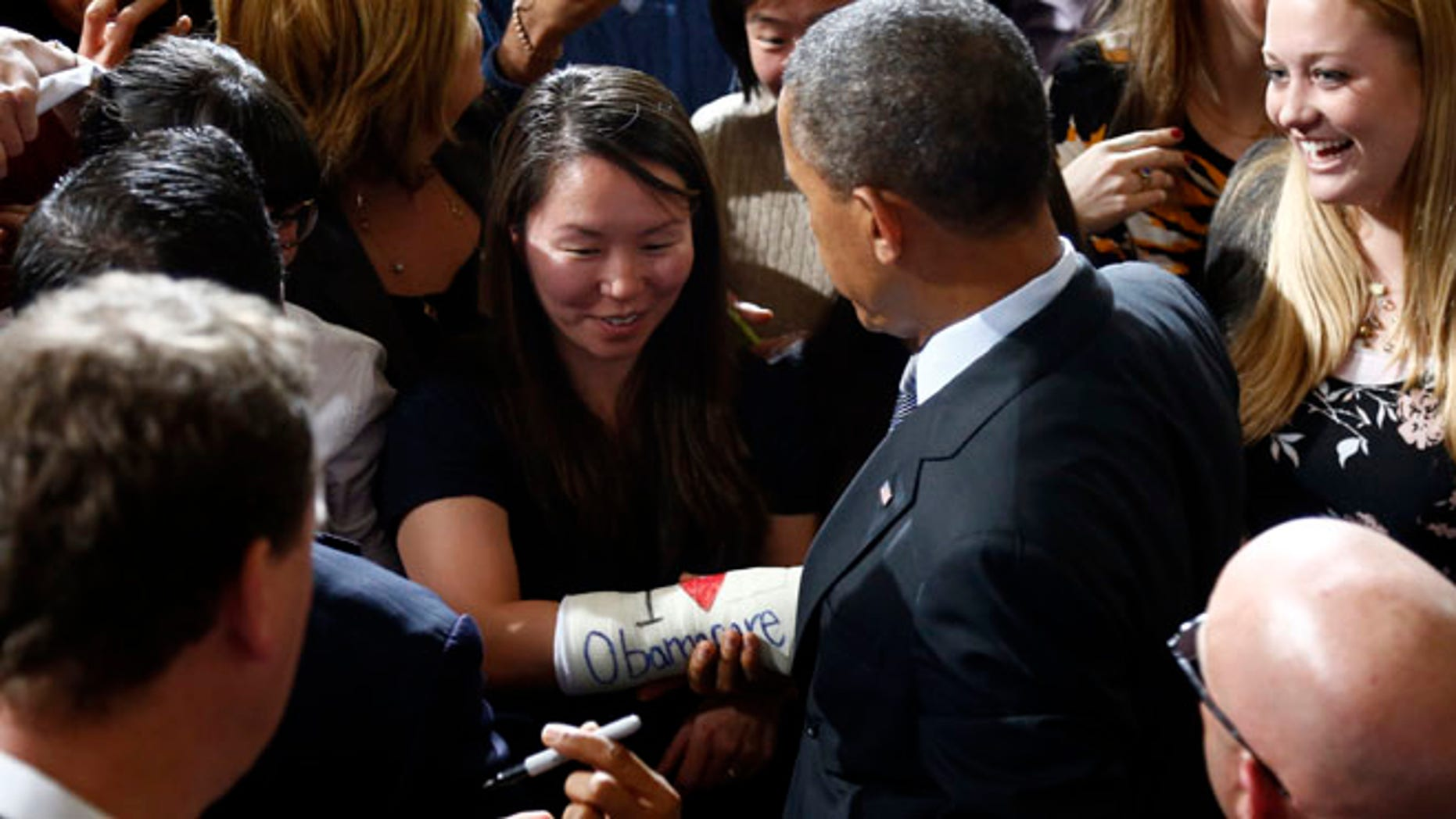 President Barack Obama at Boston's historic Faneuil Hall, Wednesday, Oct. 30, 2013.