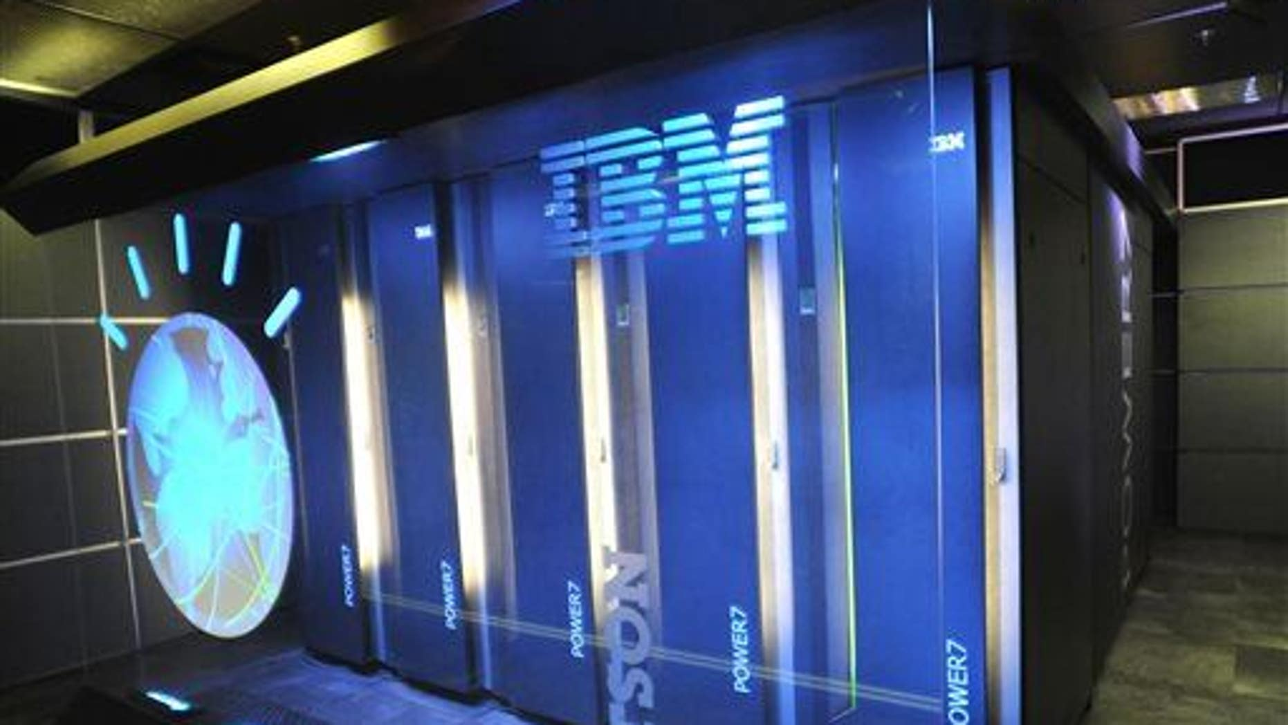 This file photo shows the IBM computer system known as Watson at IBM's TJ Watson Research Center in Yorktown Heights, NY.