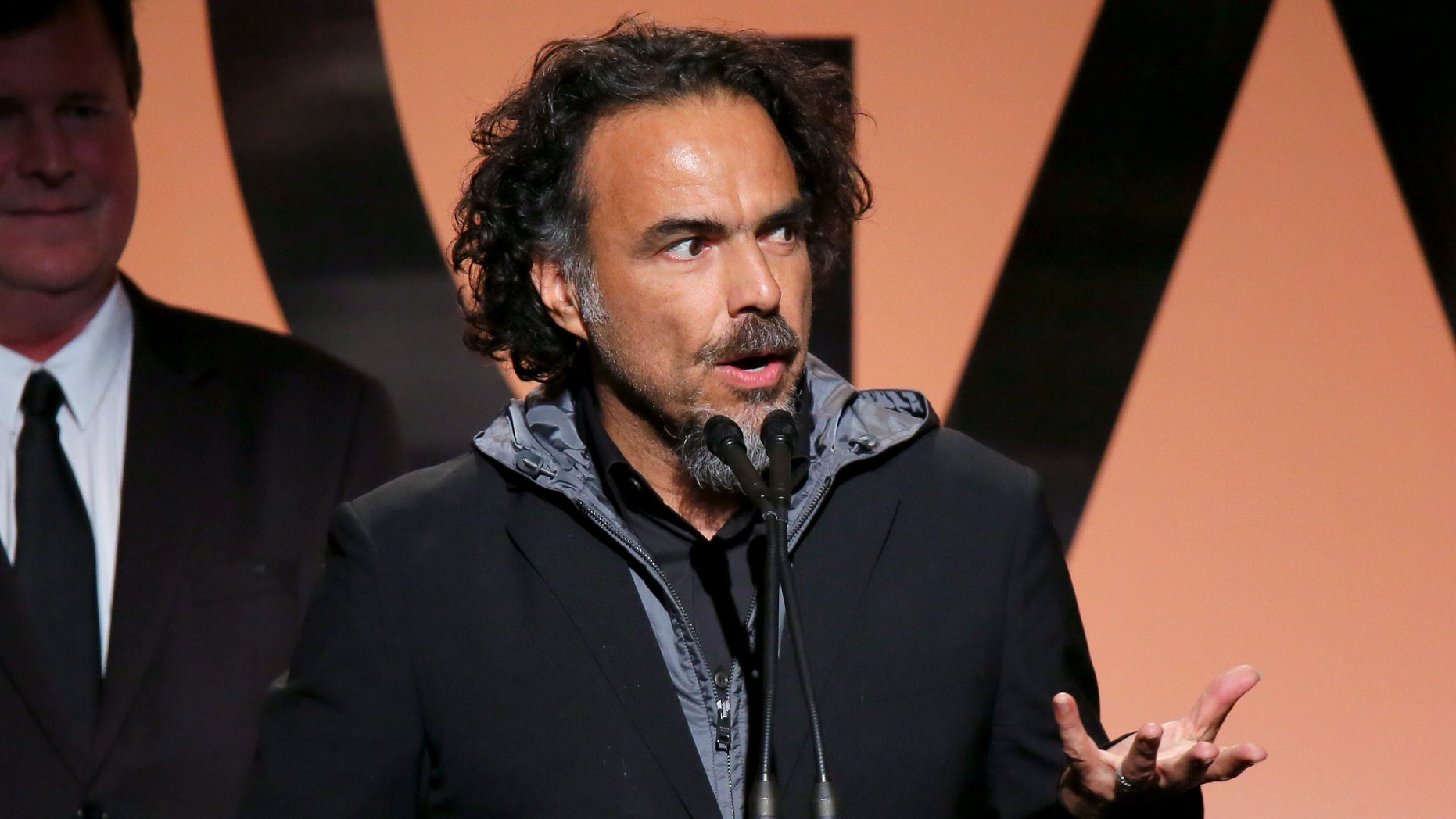 LOS ANGELES, CA - JANUARY 24:  Producer/director Alejandro Gonzalez Inarritu accepts the Outstanding Producer of Theatrical Motion Pictures award for 'Birdman' onstage during the 26th Annual Producers Guild Of America Awards at the Hyatt Regency Century Plaza on January 24, 2015 in Los Angeles, California.  (Photo by Mark Davis/Getty Images)