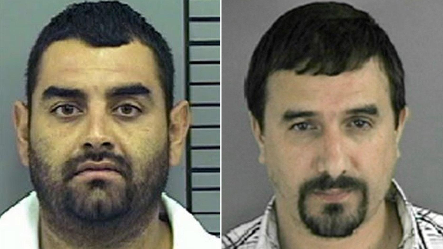 Ruben Rodriguez-Dorado, (l.) and Jose Daniel Gonzalez-Galeana (r.), were both ICE informants and drug cartal members when Rodriguez-Dorado allegedly put a hit on Gonzalez-Galeana. (El Paso Police Department, Crimestoppers)