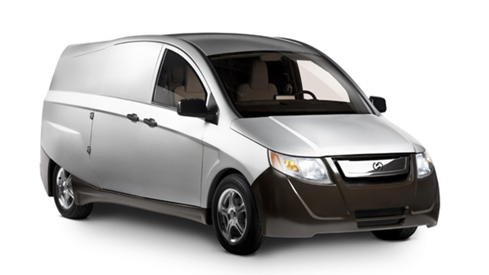 This photo shows an IDEA vehicle made by Bright Automotive.