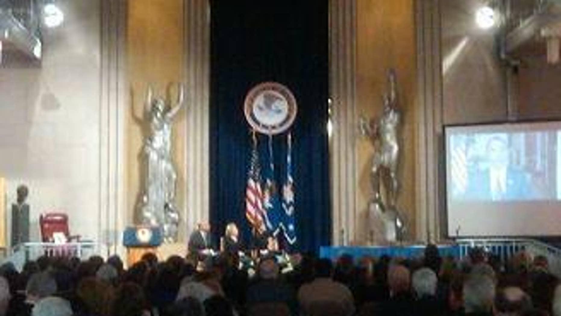 President Obama delivers video message during RFK celebration, Jan. 21
