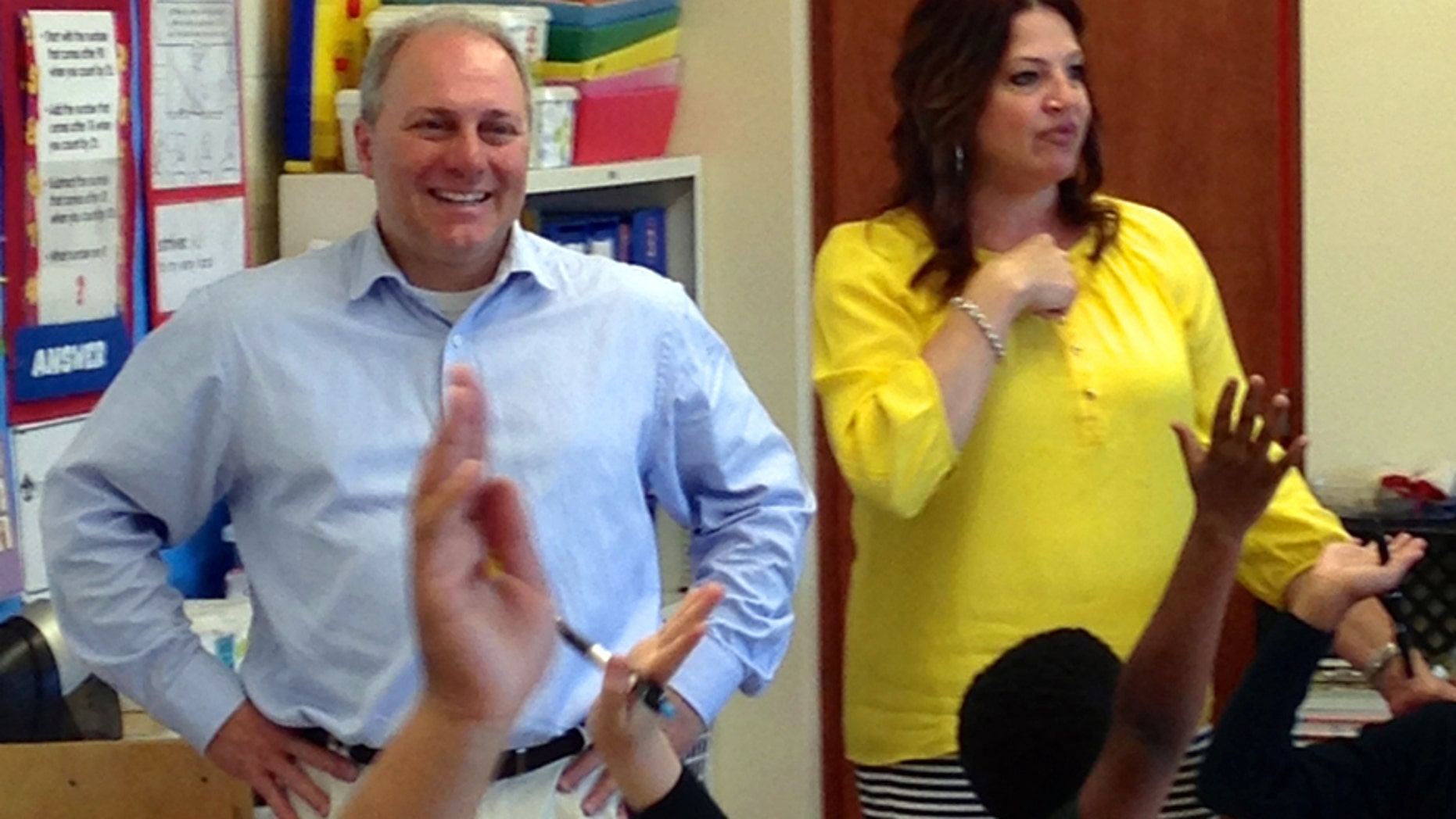 Congressman Scalise touring Hynes Charter School in his hometown of New Orleans on May 2, 2014.