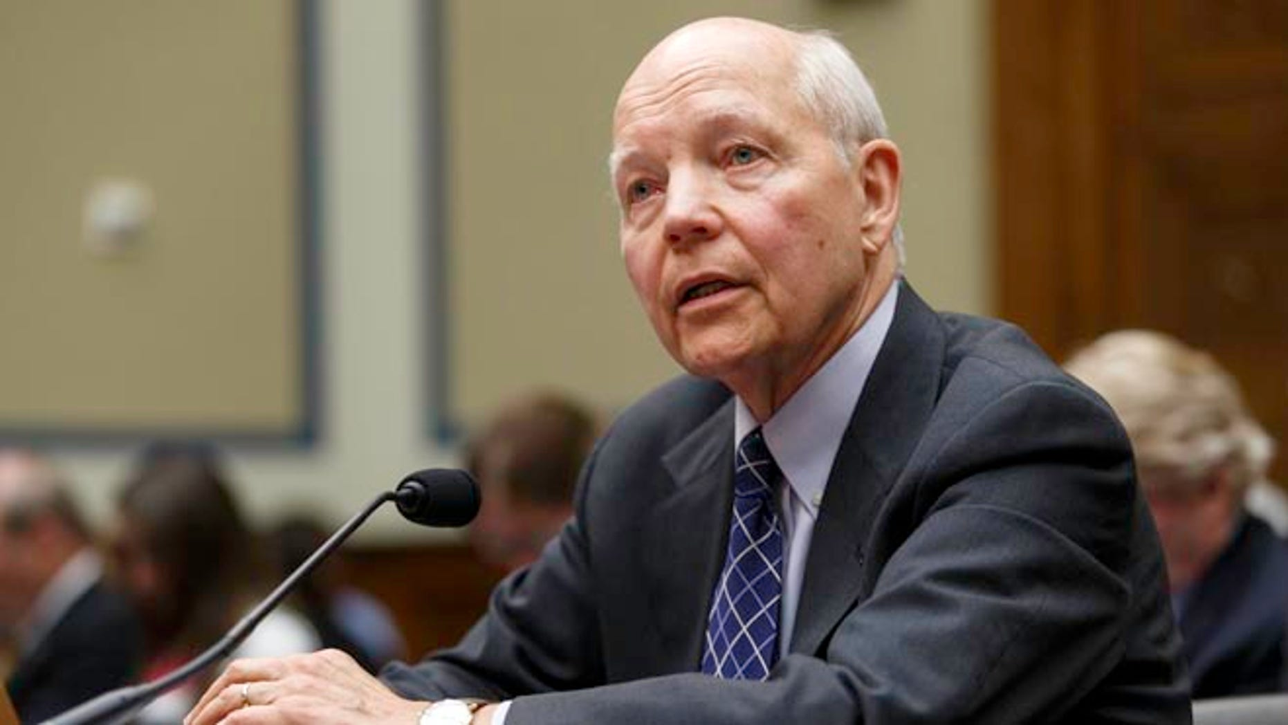 Internal Revenue Service Commissioner John Koskinen testifies under subpoena before the House Oversight Committee on Capitol Hill in Washington, Monday, June 23, 2014.