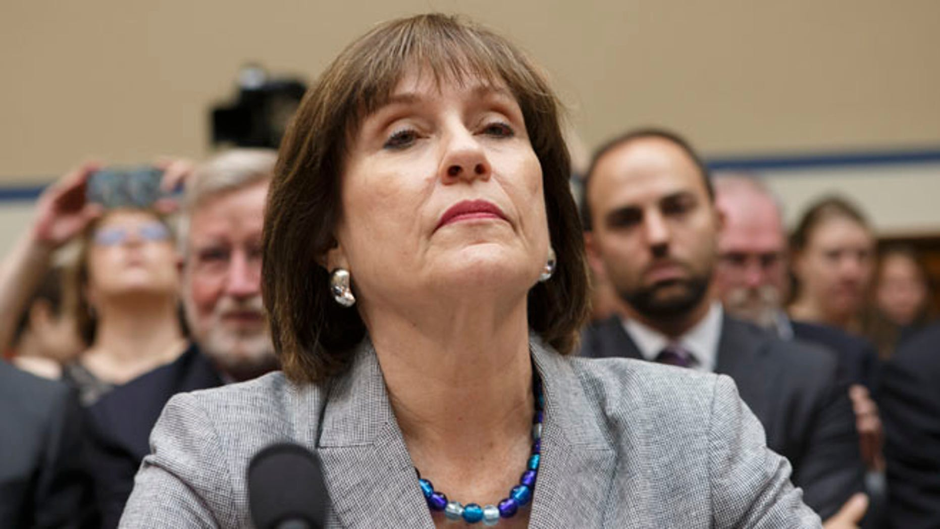 This May 22, 2013 file photo shows Internal Revenue Service (IRS) official Lois Lerner on Capitol Hill in Washington.