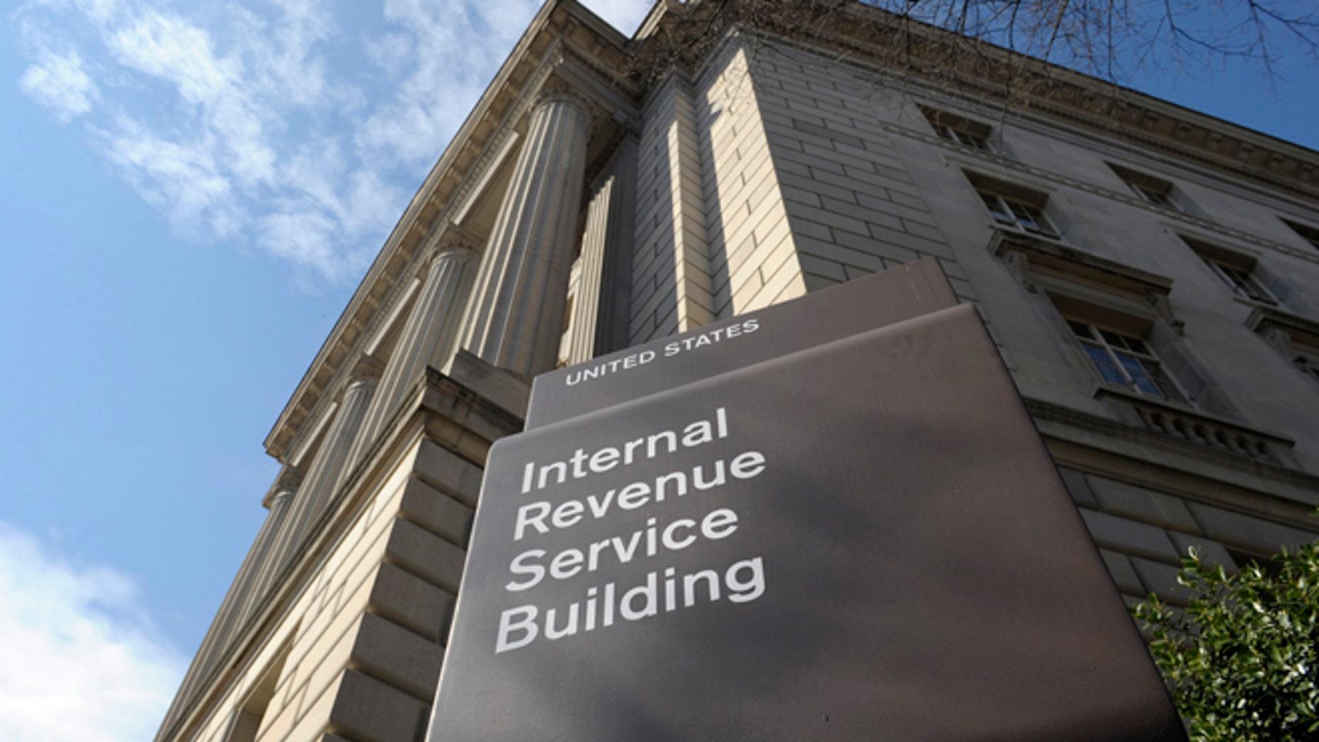 March 22, 2013: Shows the exterior of the Internal Revenue Service building in Washington.