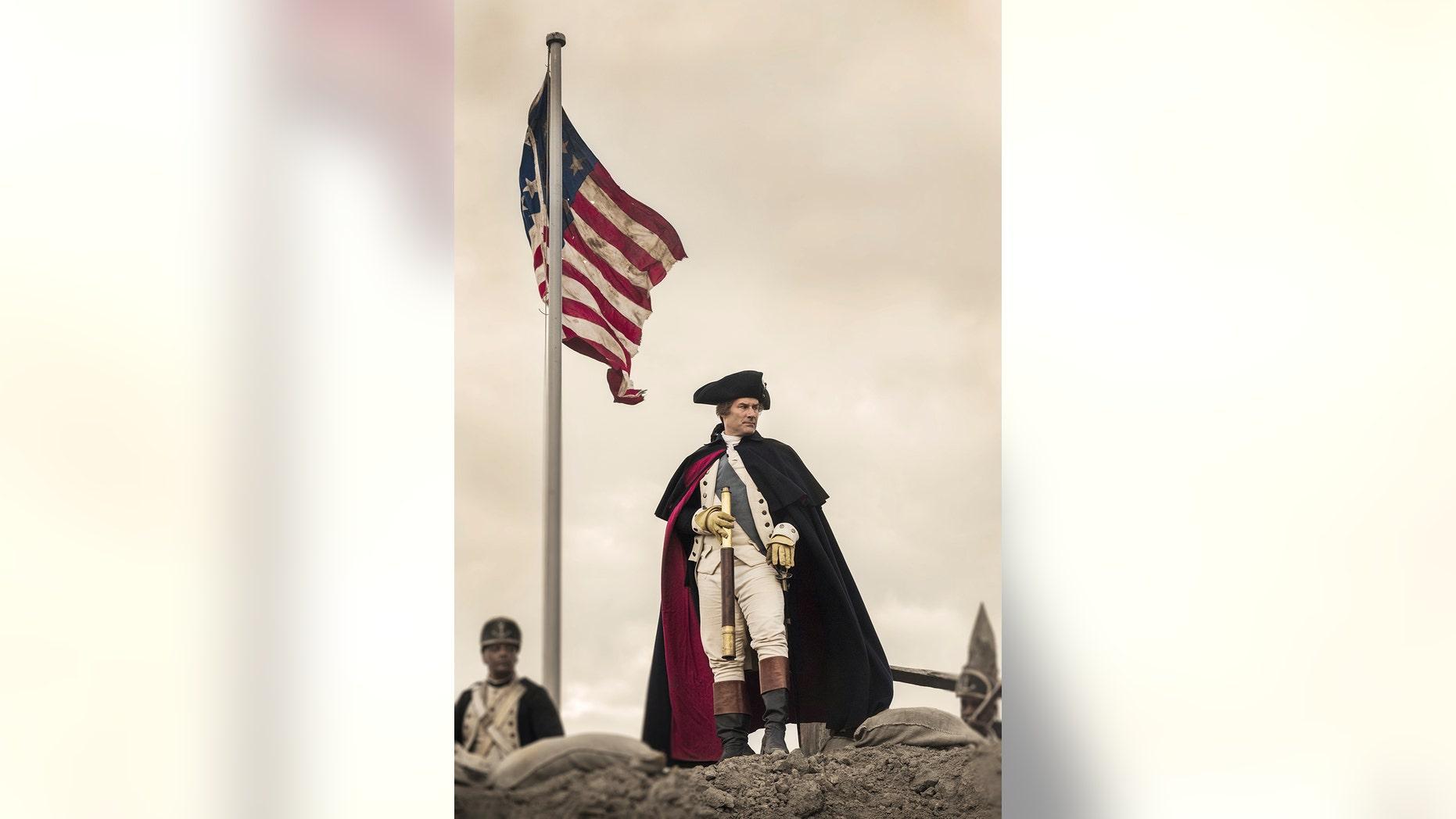 "Ian Khan stars as George Washington in ""Turn: Washington's Spies."""