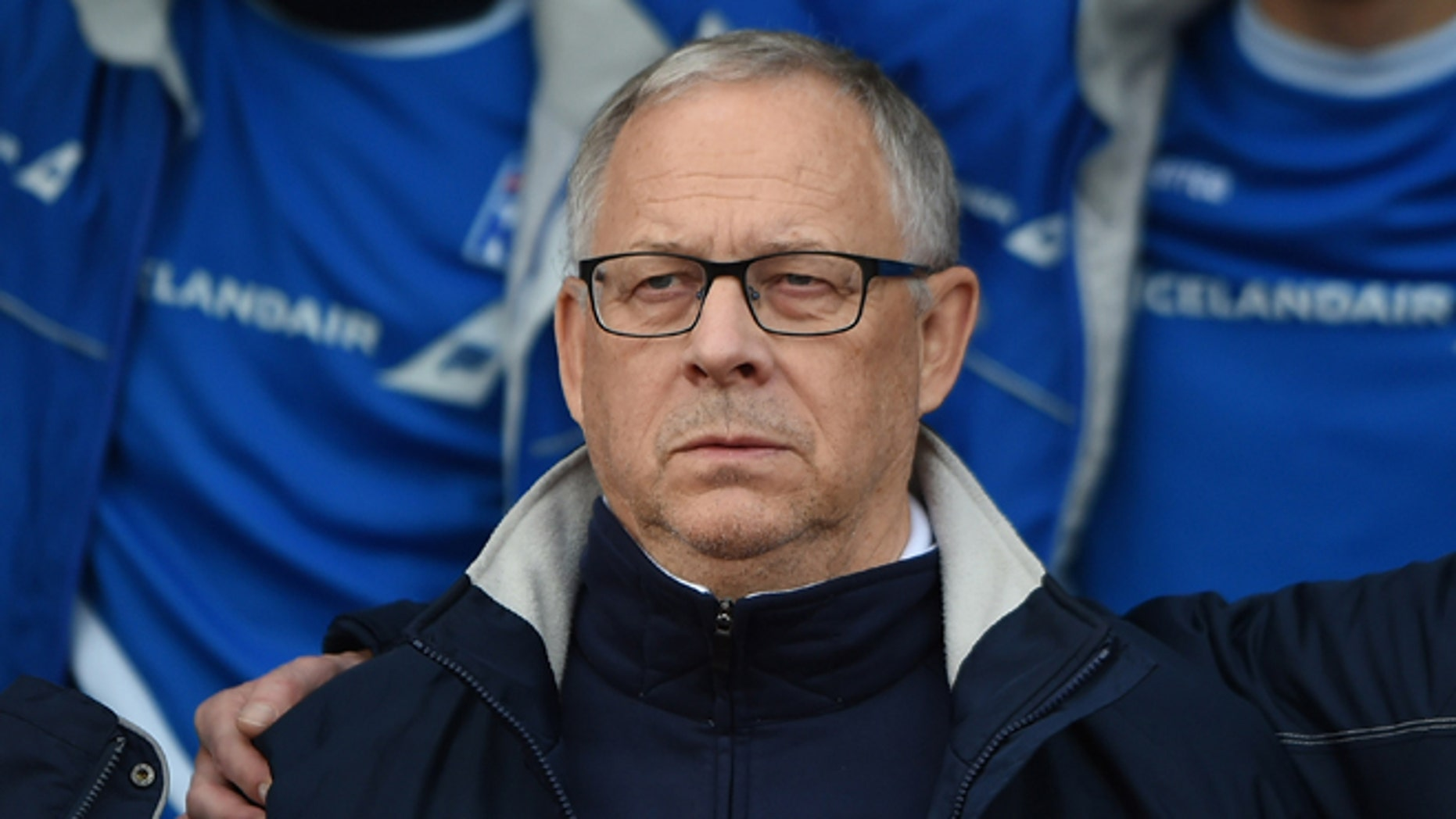 REYKJAVIK, ICELAND - OCTOBER 10:  Manager of Iceland Lars Lagerback looks on during the UEFA EURO 2016 Qualifier match between Iceland and Latvia at Laugardalsvollur National Stadium on October 10, 2015 in Reykjavik, Iceland. (Photo by Tom Dulat/Getty Images).