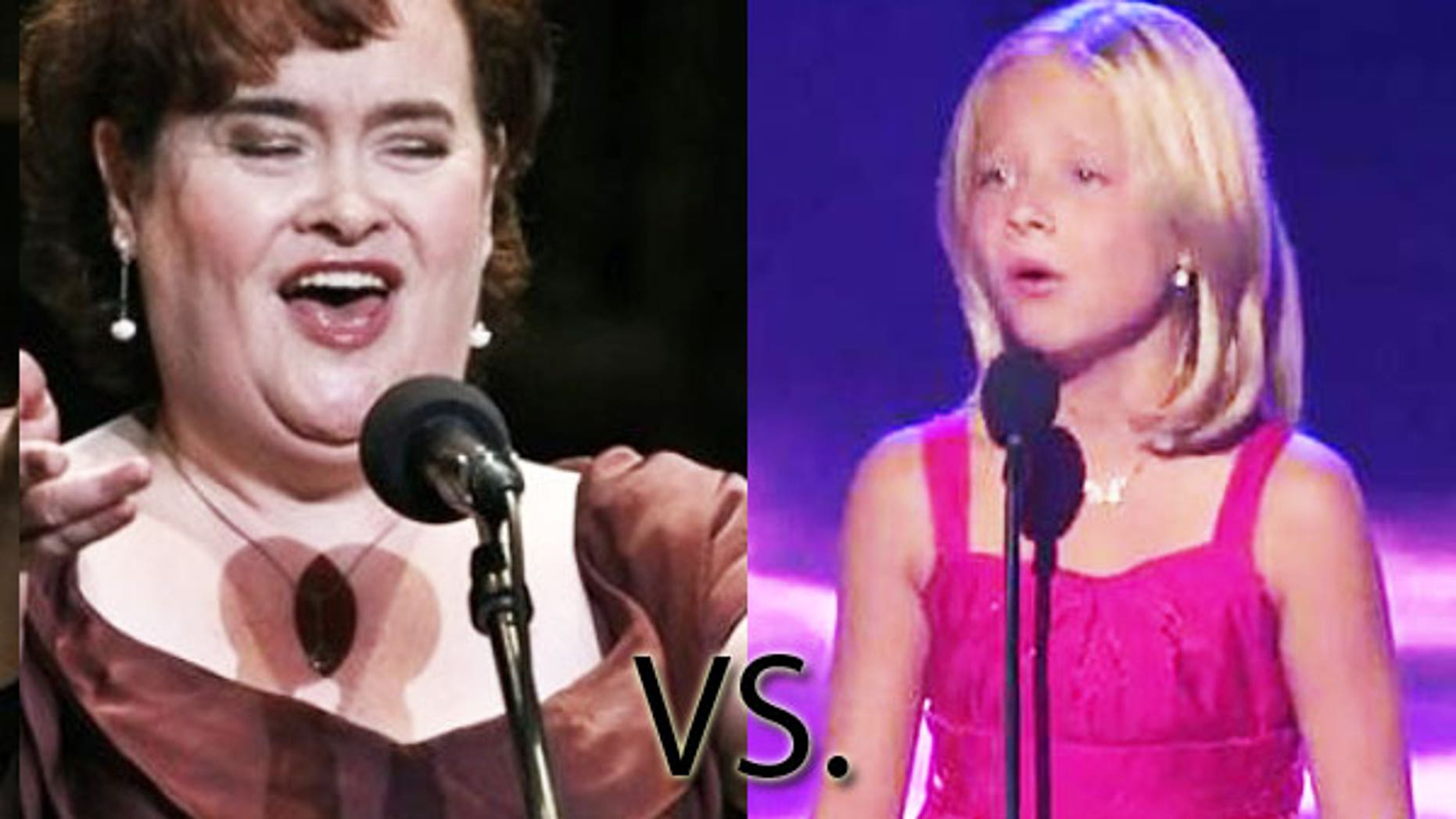 Which unlikely singing sensation is your favorite, Susan Boyle (left) or Jackie Evancho?