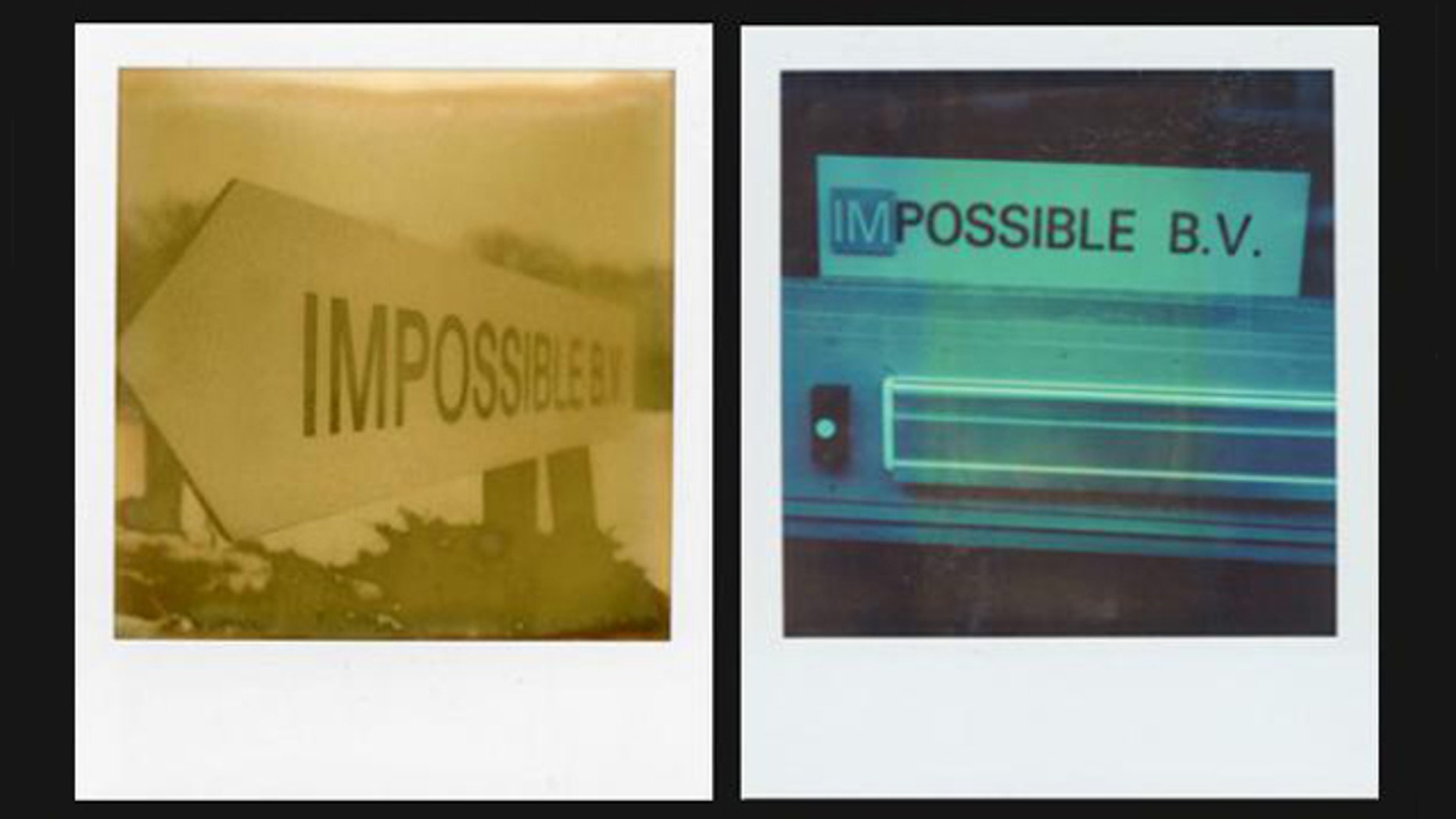 Images on the Web site of the Impossible Project, which is manufacturing Polaroid instant film again, are depicted as old instant photographs.
