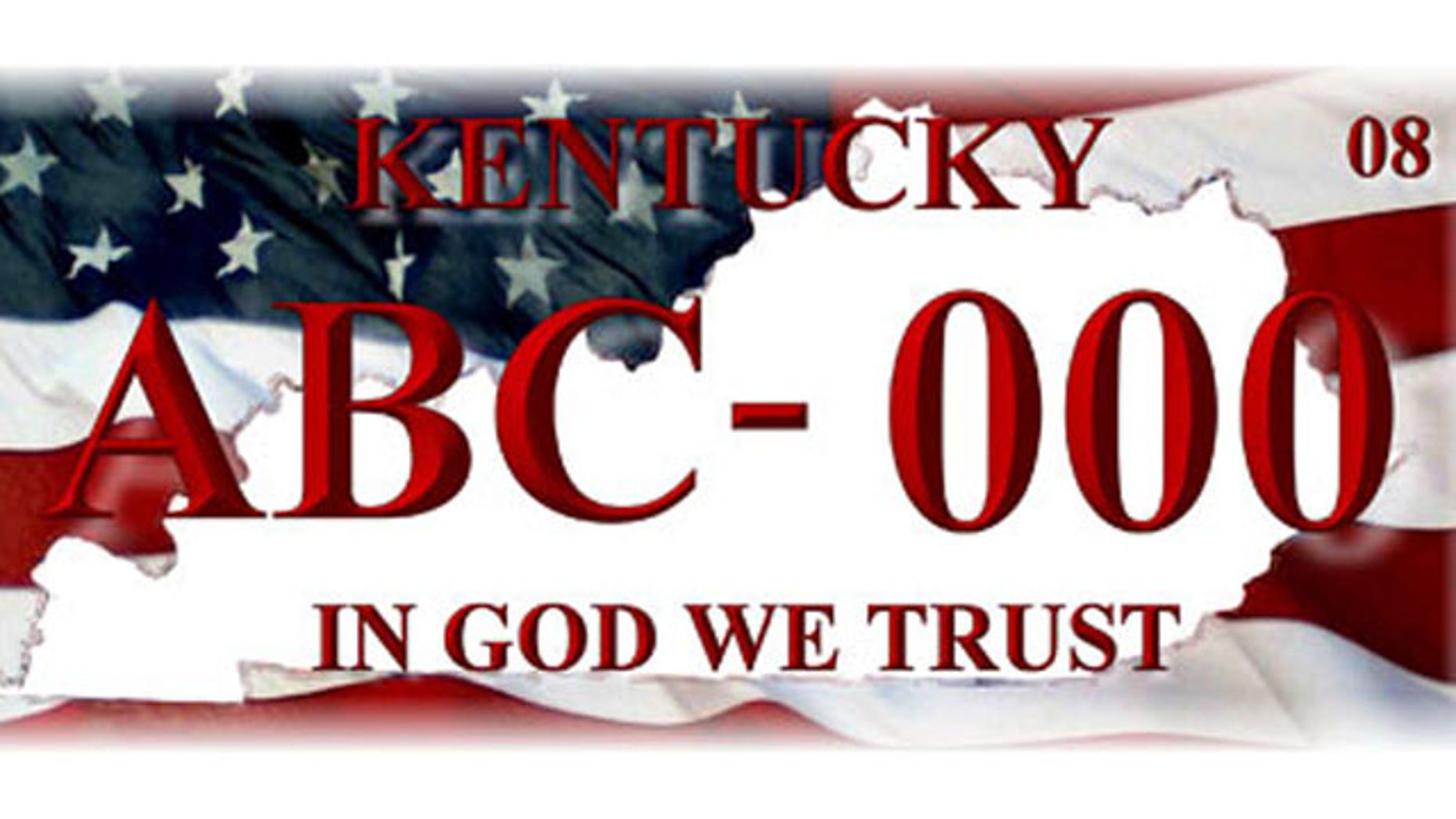 'In God We Trust' license plate proposed by ROCK.