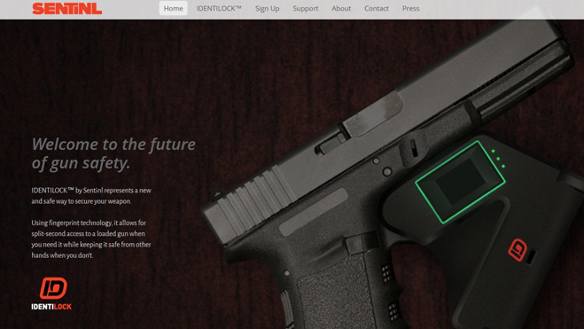 A screenshot of Indentilock's website.