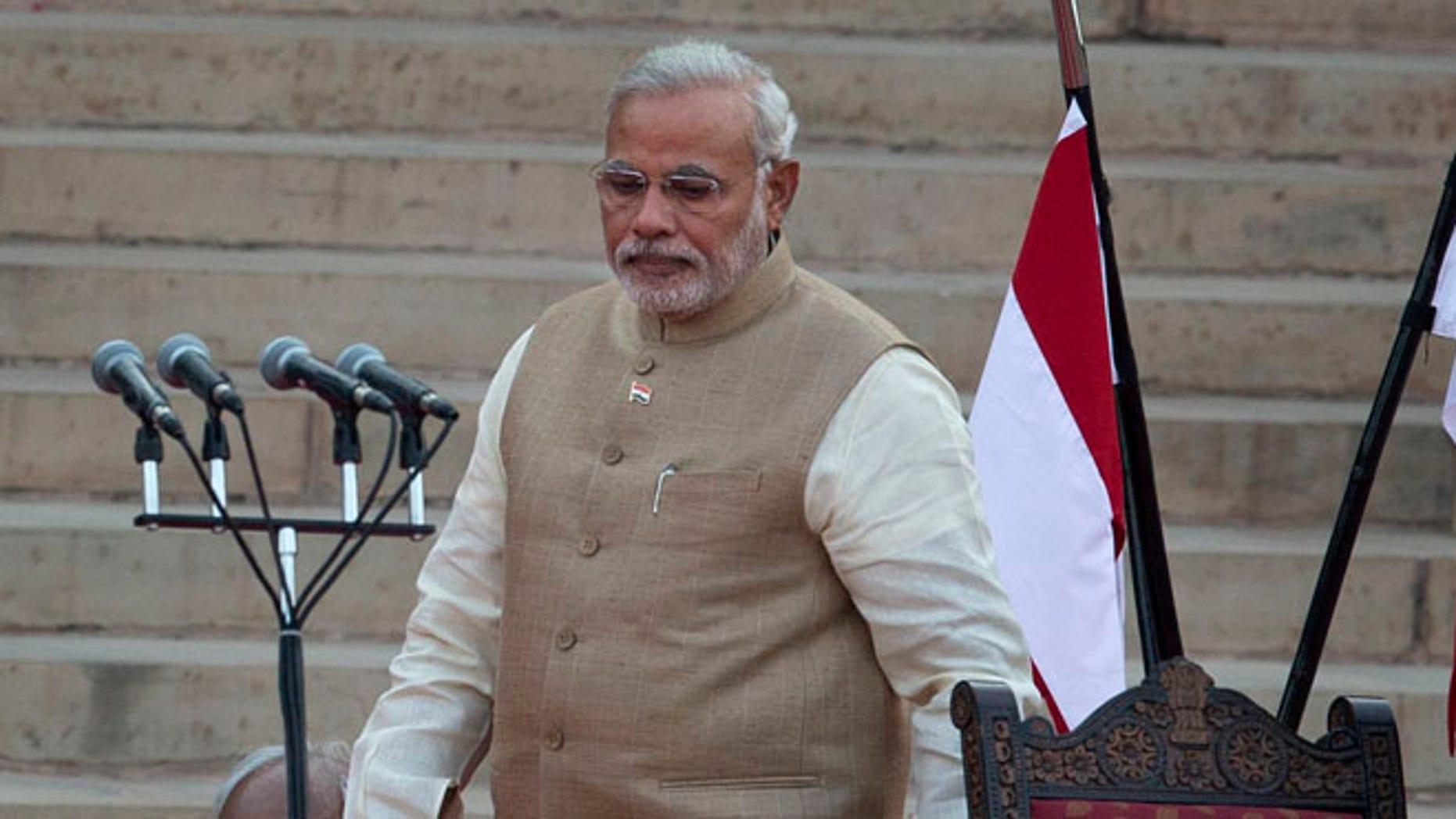 May 26, 2014: India's new prime minister Narendra Modi, in New Delhi, India.