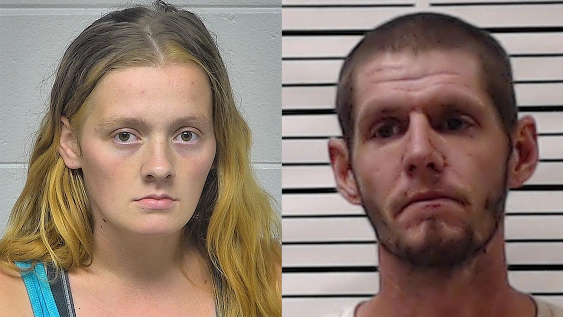 Tara L. Savage (left) and Deven G. Frisque (right) were arrested and charged this week following the death of their 3-month-old son