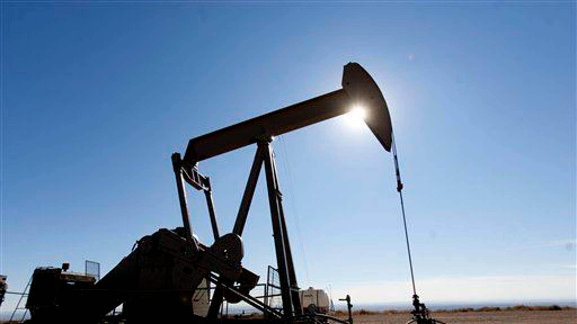 This photo taken Feb. 7, 2012 shows the oil fields of the Uintah Basin, southeast of Vernal, Utah.