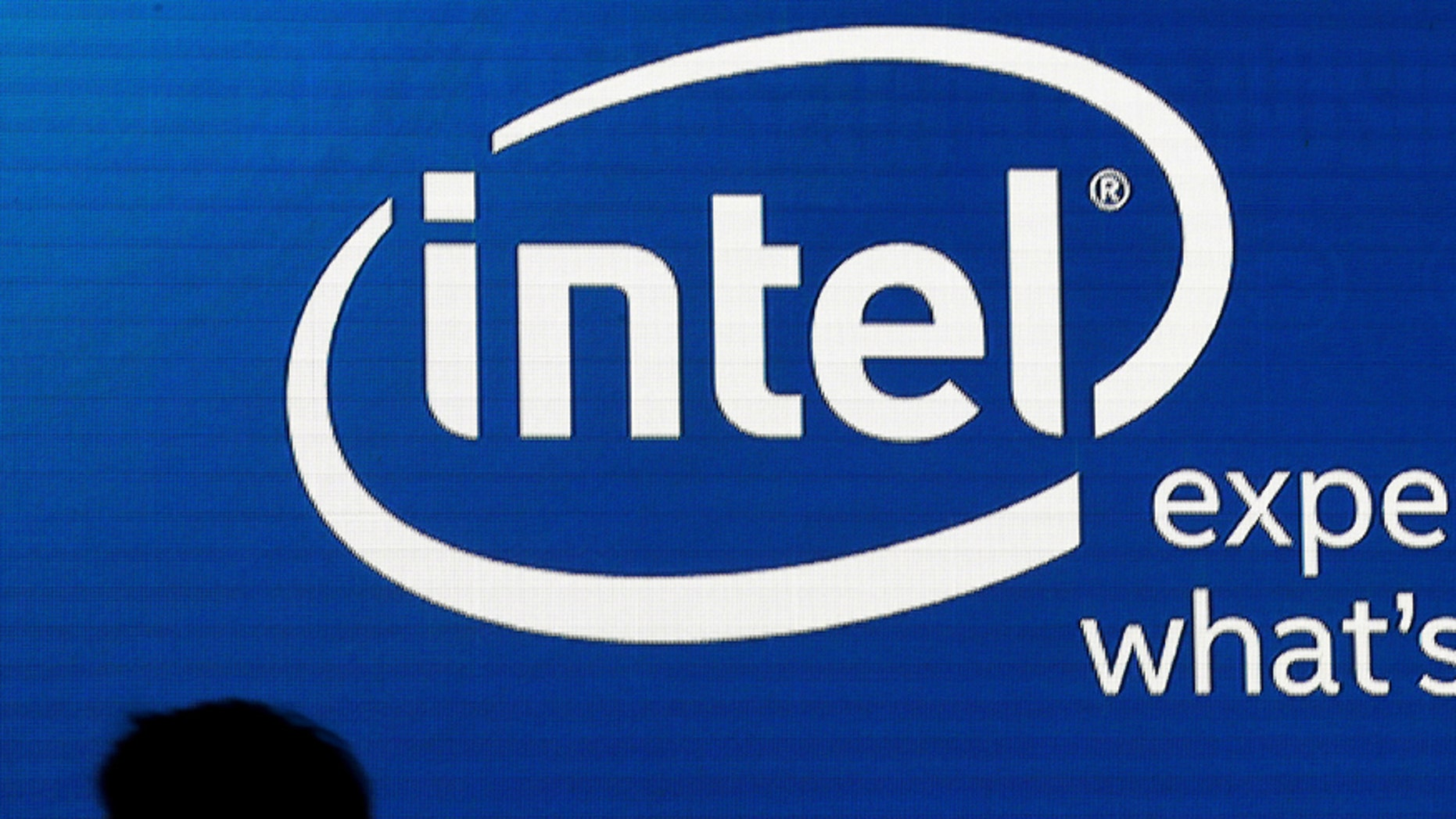 File photo - Shadows are cast near the Intel logo at the 2015 Computex exhibition in Taipei, Taiwan, June 3, 2015.