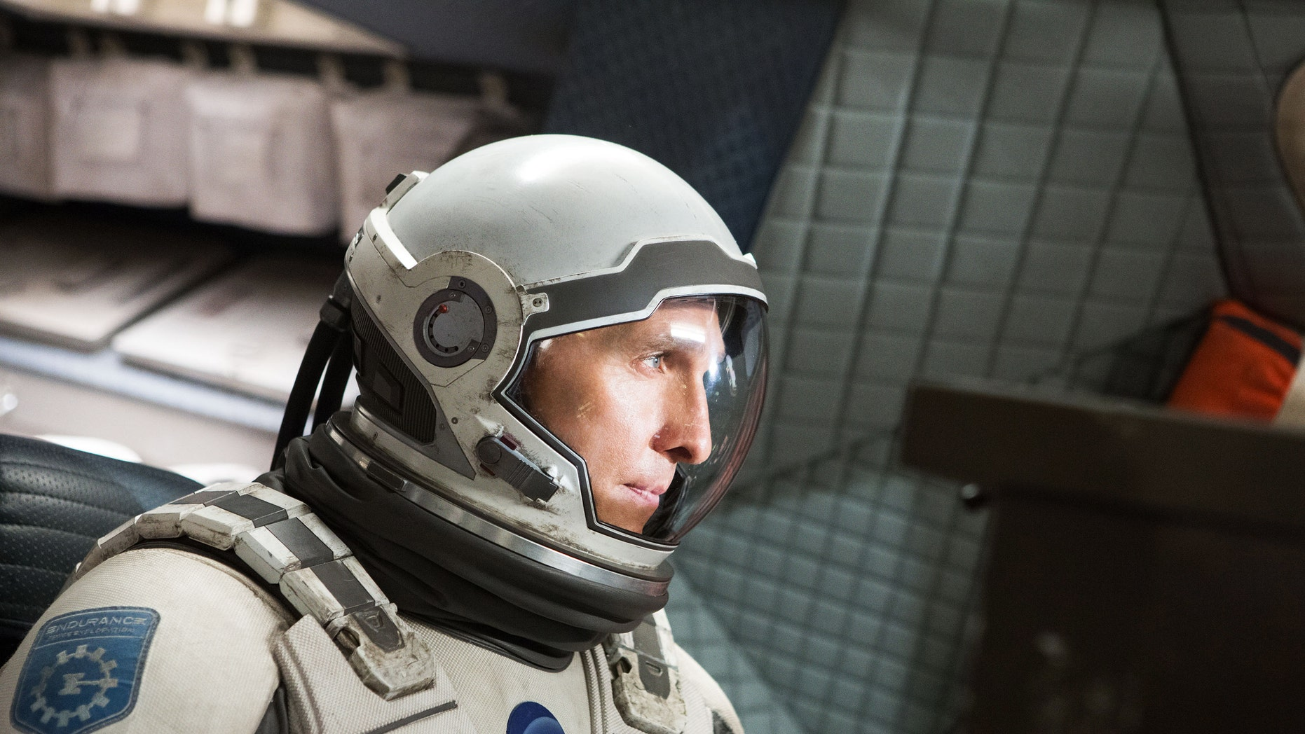 This photo released by Paramount Pictures shows Matthew McConaughey, in a scene from the film, 'Interstellar.'