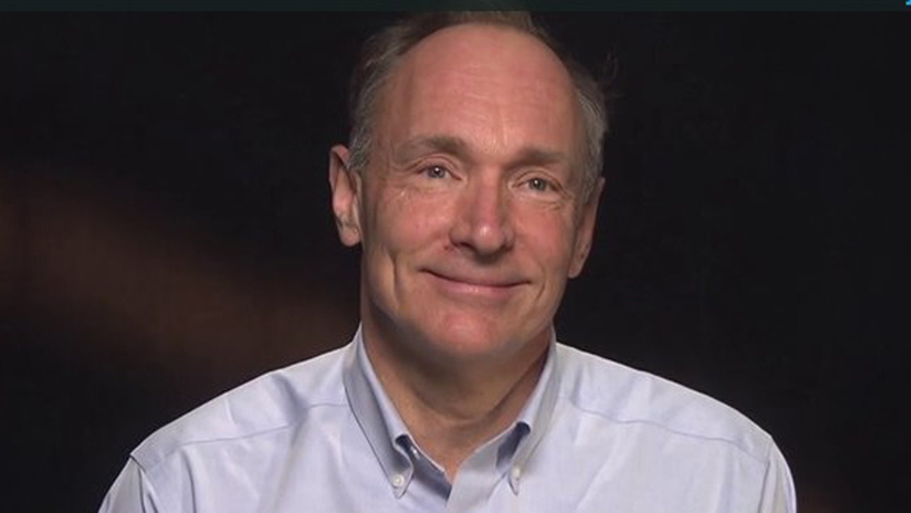 Tim Berners-Lee, the British inventor of the World Wide Web, in a screenshot from a video made on the 25th anniversary of his invention.